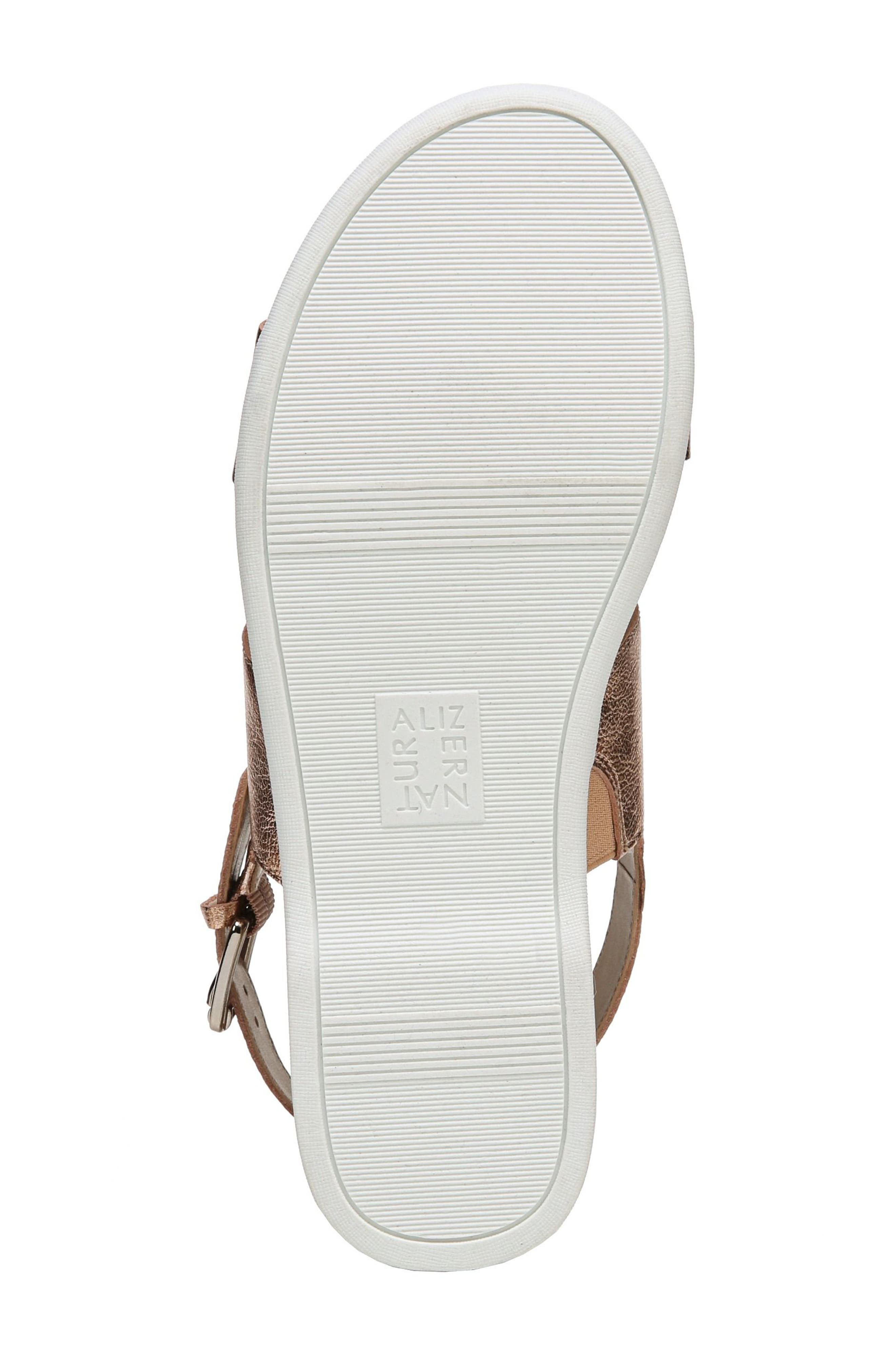 Emory Wedge Sandal,                             Alternate thumbnail 6, color,                             Copper Leather