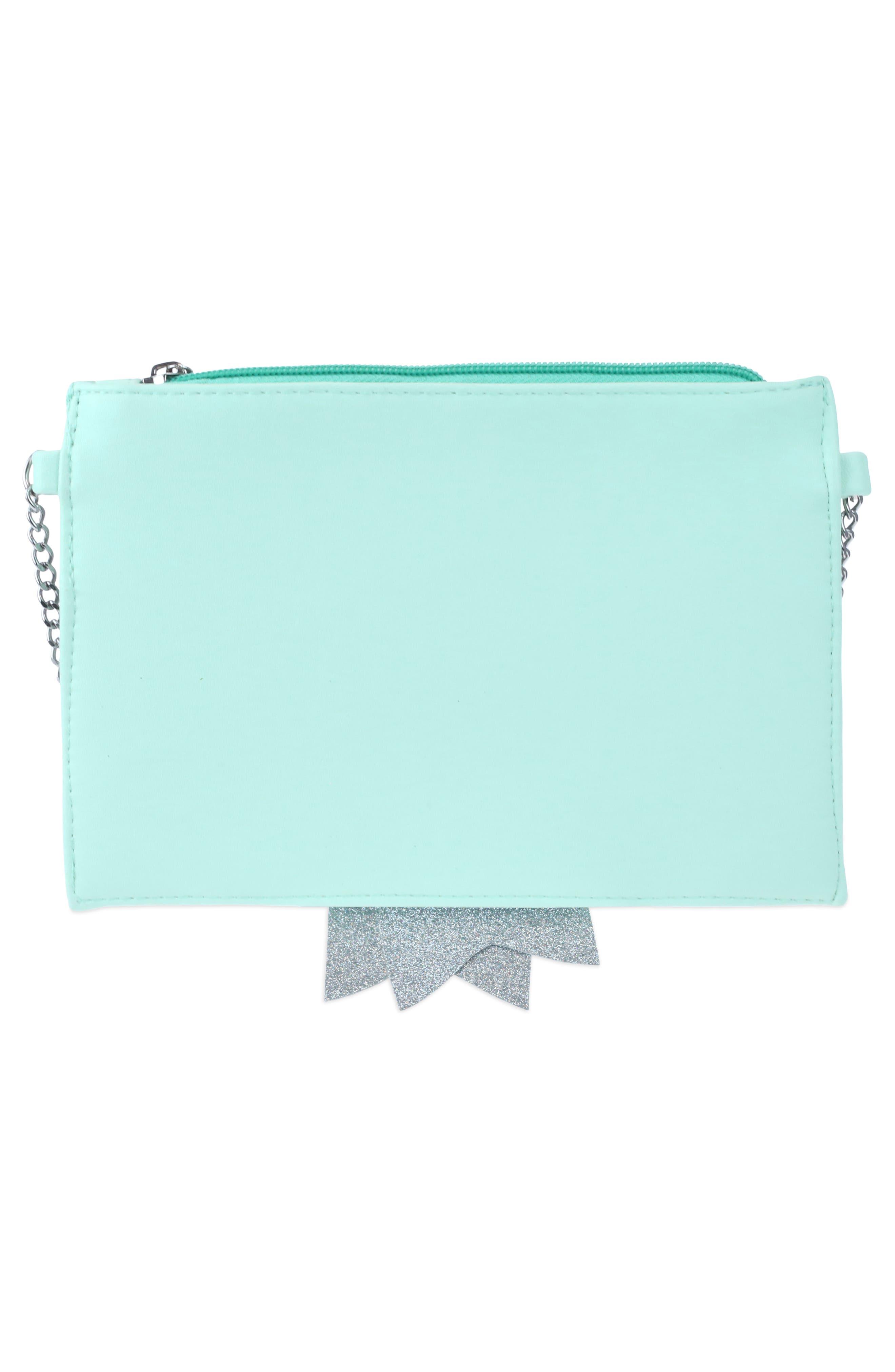Glitter Bow Crossbody Bag,                             Alternate thumbnail 2, color,                             Mint