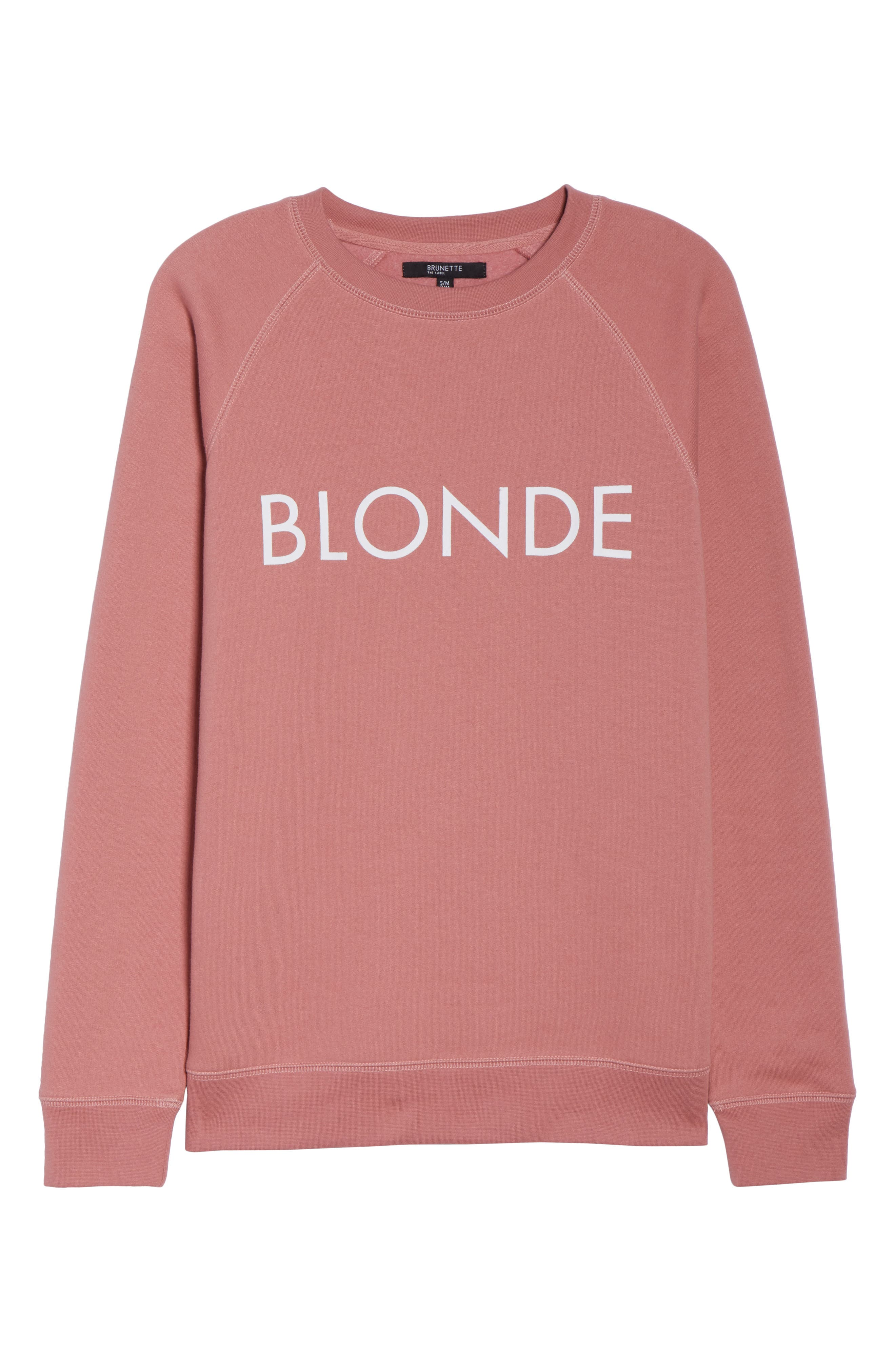 Blonde Crewneck Sweatshirt,                             Alternate thumbnail 4, color,                             Dusty Rose