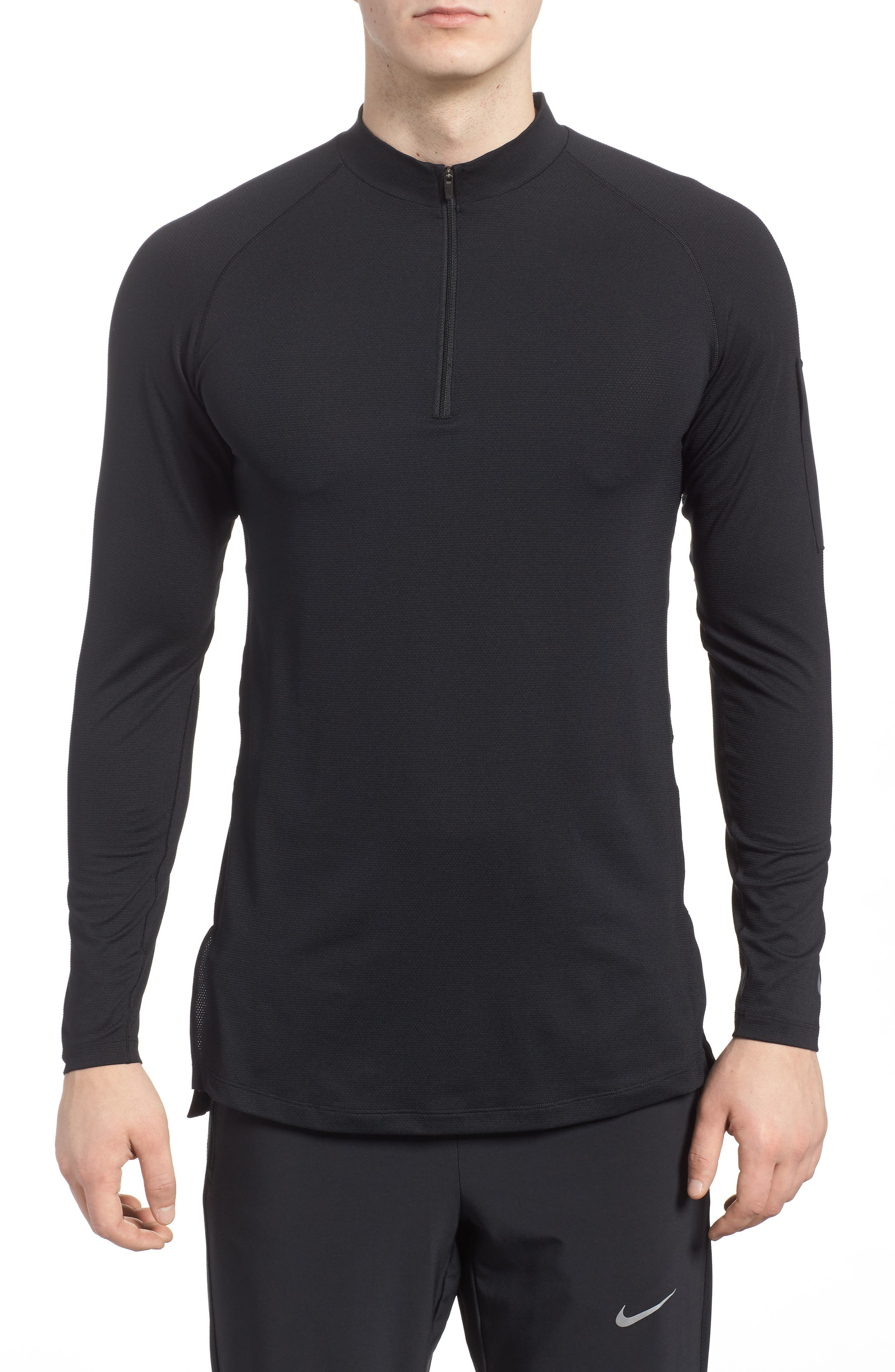 Pro Fitted Utility Dry Tech Sport Top,                             Main thumbnail 1, color,                             Black/ Black