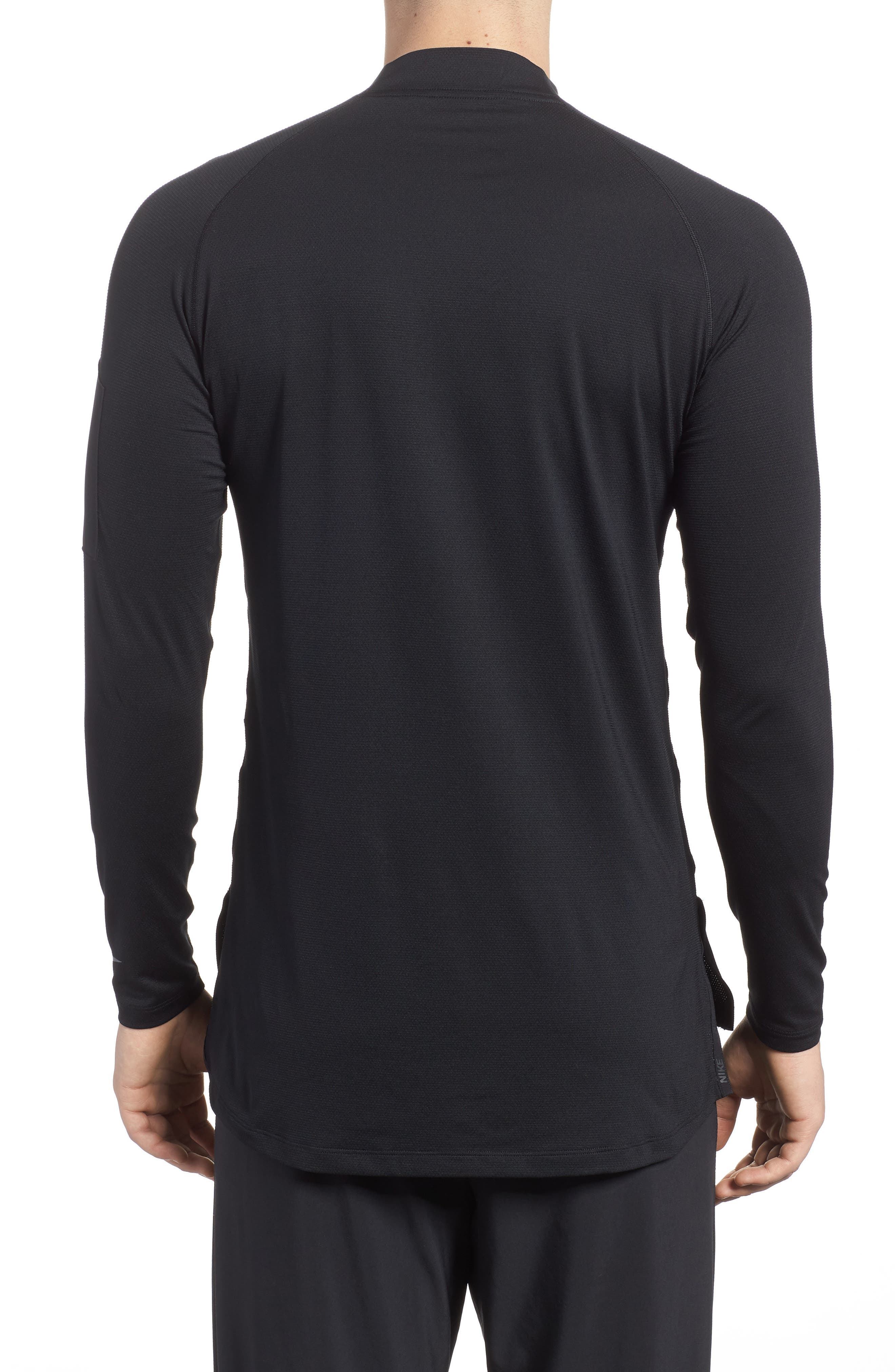 Pro Fitted Utility Dry Tech Sport Top,                             Alternate thumbnail 2, color,                             Black/ Black