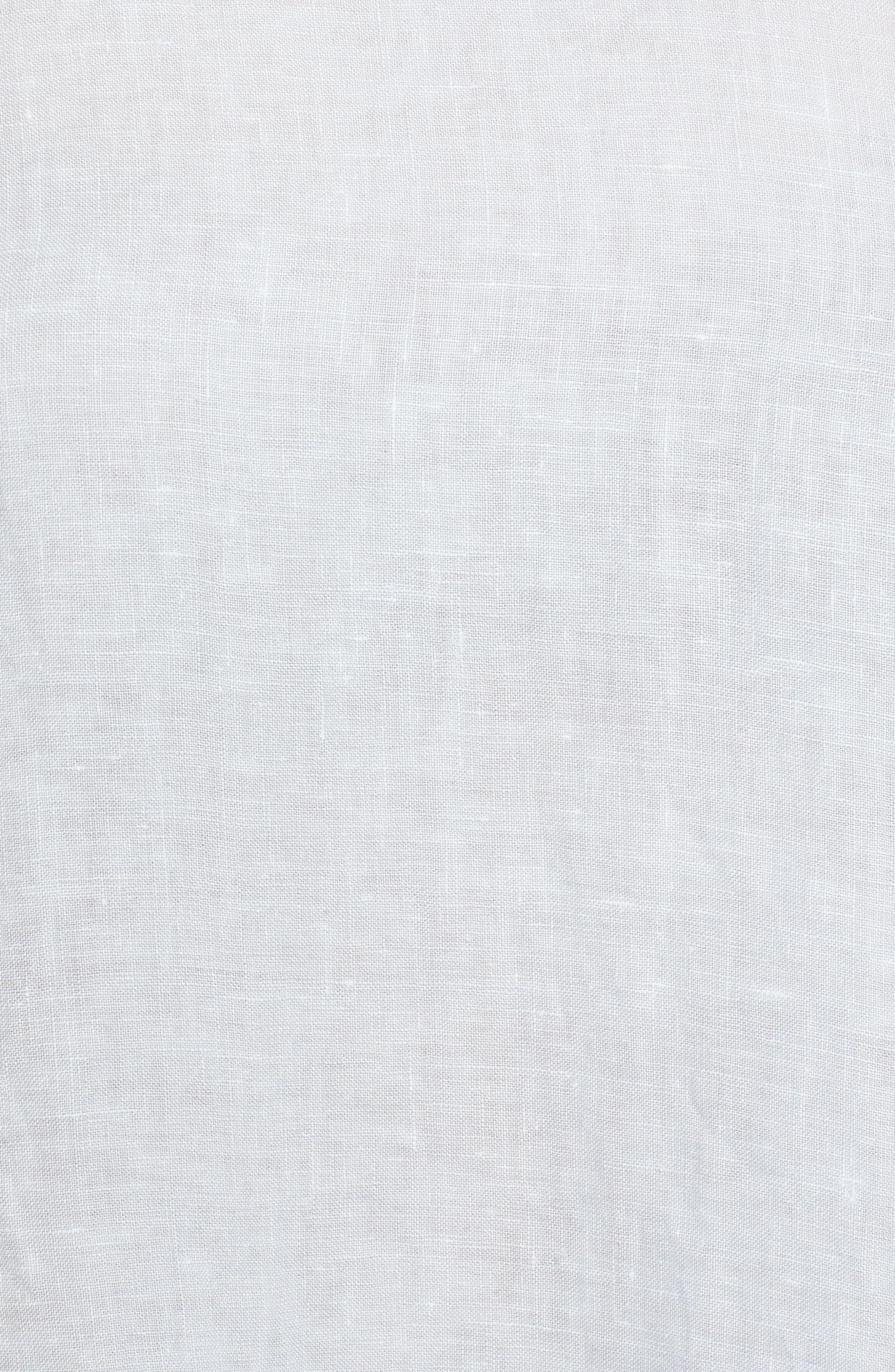 Ruffle Sleeve Linen Top,                             Alternate thumbnail 7, color,                             Cloud