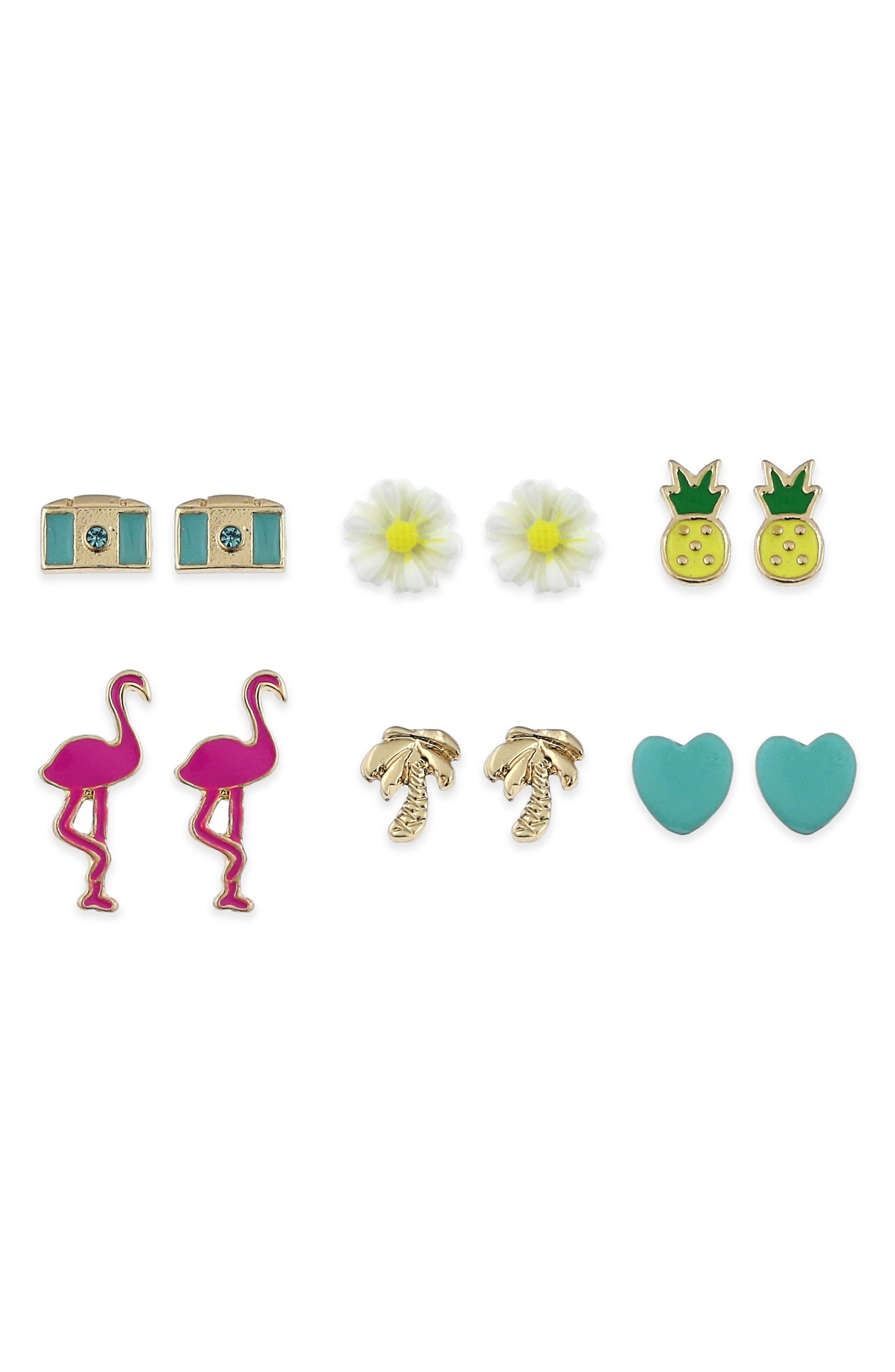 Tropical 6-Pack Earrings,                             Main thumbnail 1, color,                             Multi