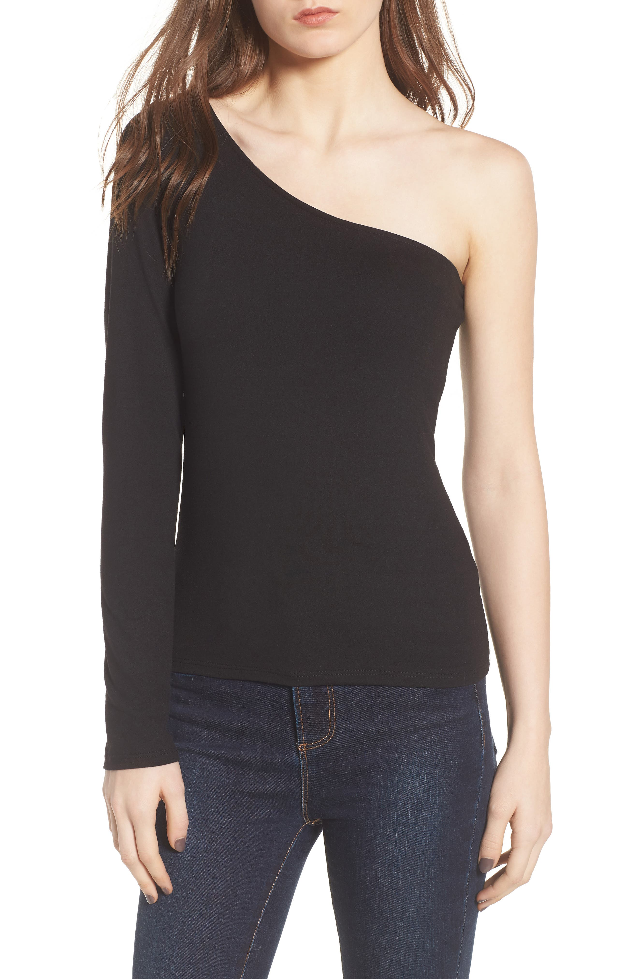 PST by Project Social T Second Skin One-Shoulder Top