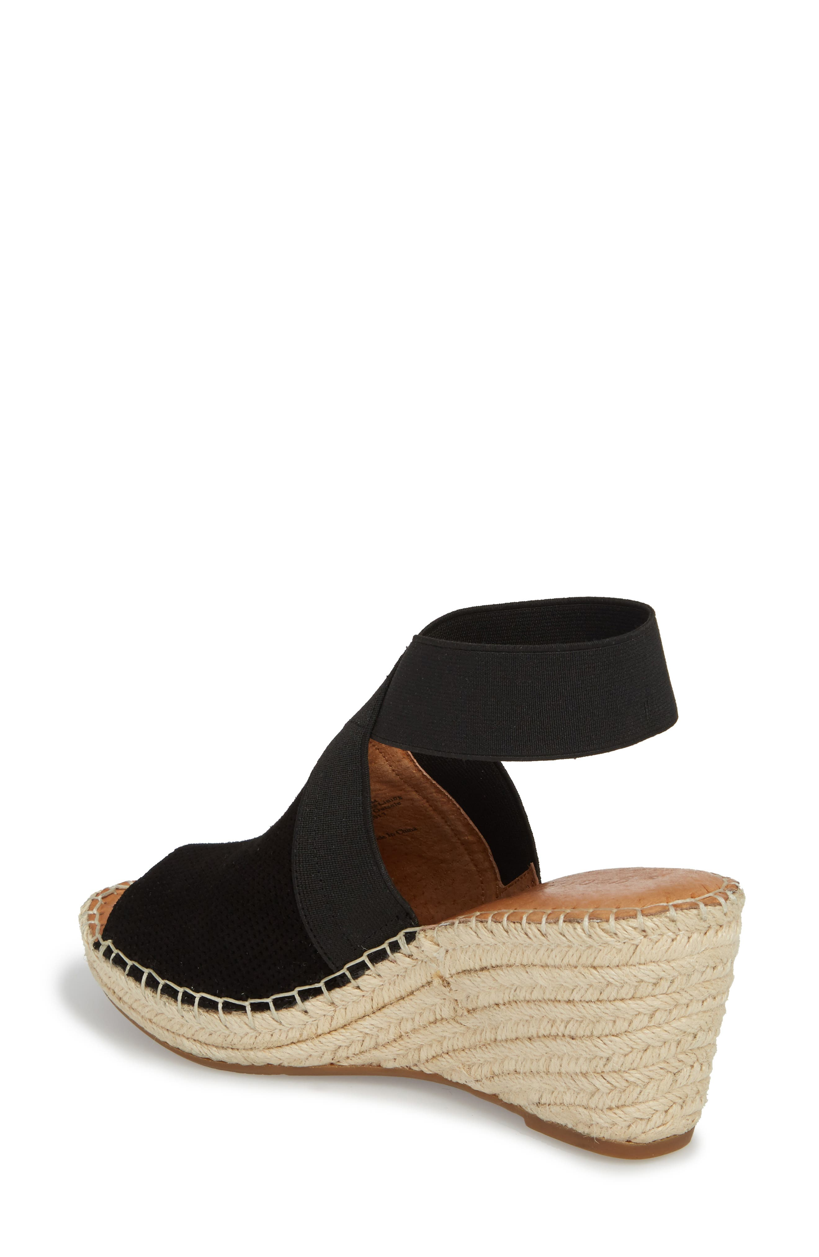 by Kenneth Cole Colleen Espadrille Wedge,                             Alternate thumbnail 2, color,                             Black Suede