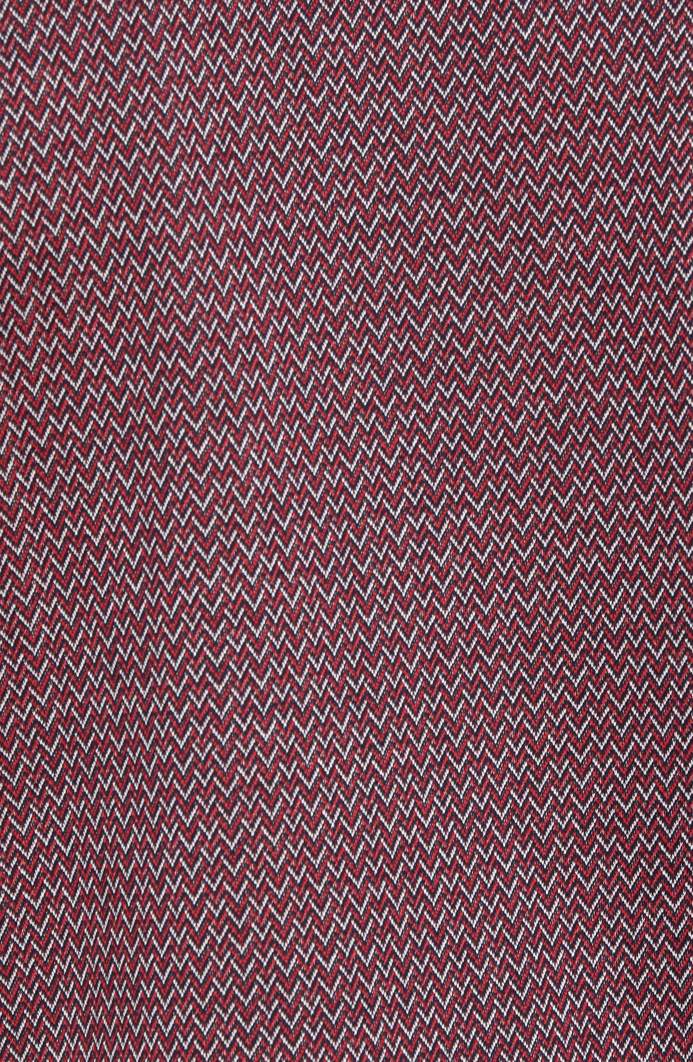 Jacquard Polo,                             Alternate thumbnail 5, color,                             Squid Ink / Canvas / Red Coral