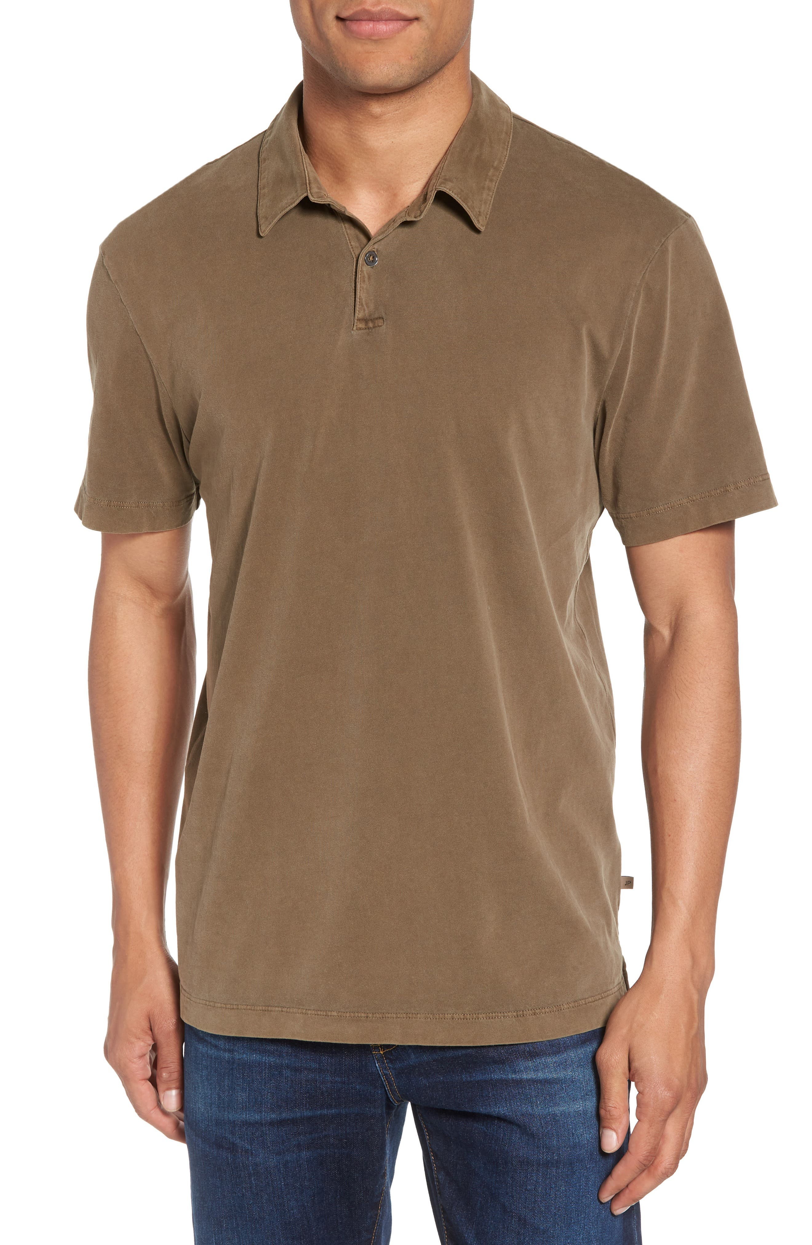 0f7ba0b0ba1 James Perse Slim Fit Sueded Jersey Polo In Earth | ModeSens