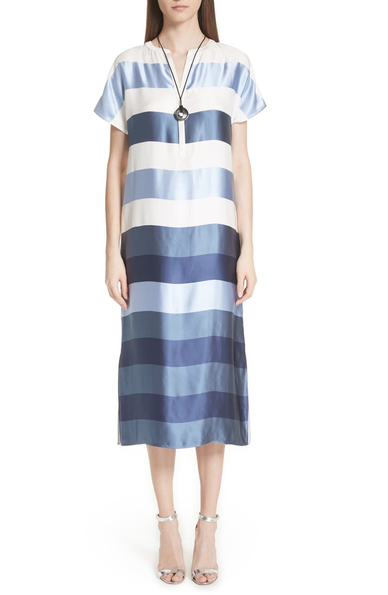 Block Stripe Twill Dress