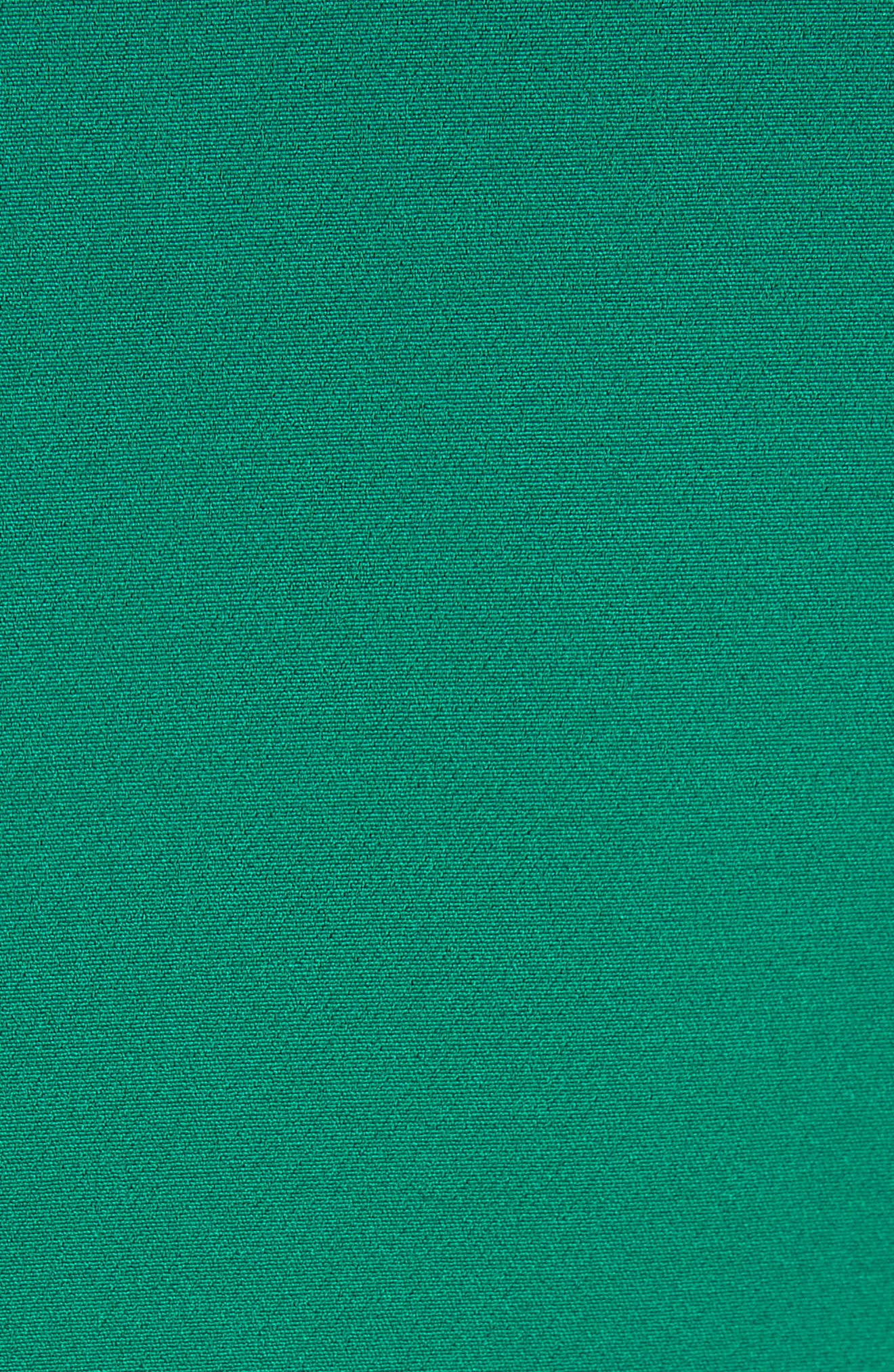 Savannah Ruffle Stretch Crepe Minidress,                             Alternate thumbnail 5, color,                             Emerald