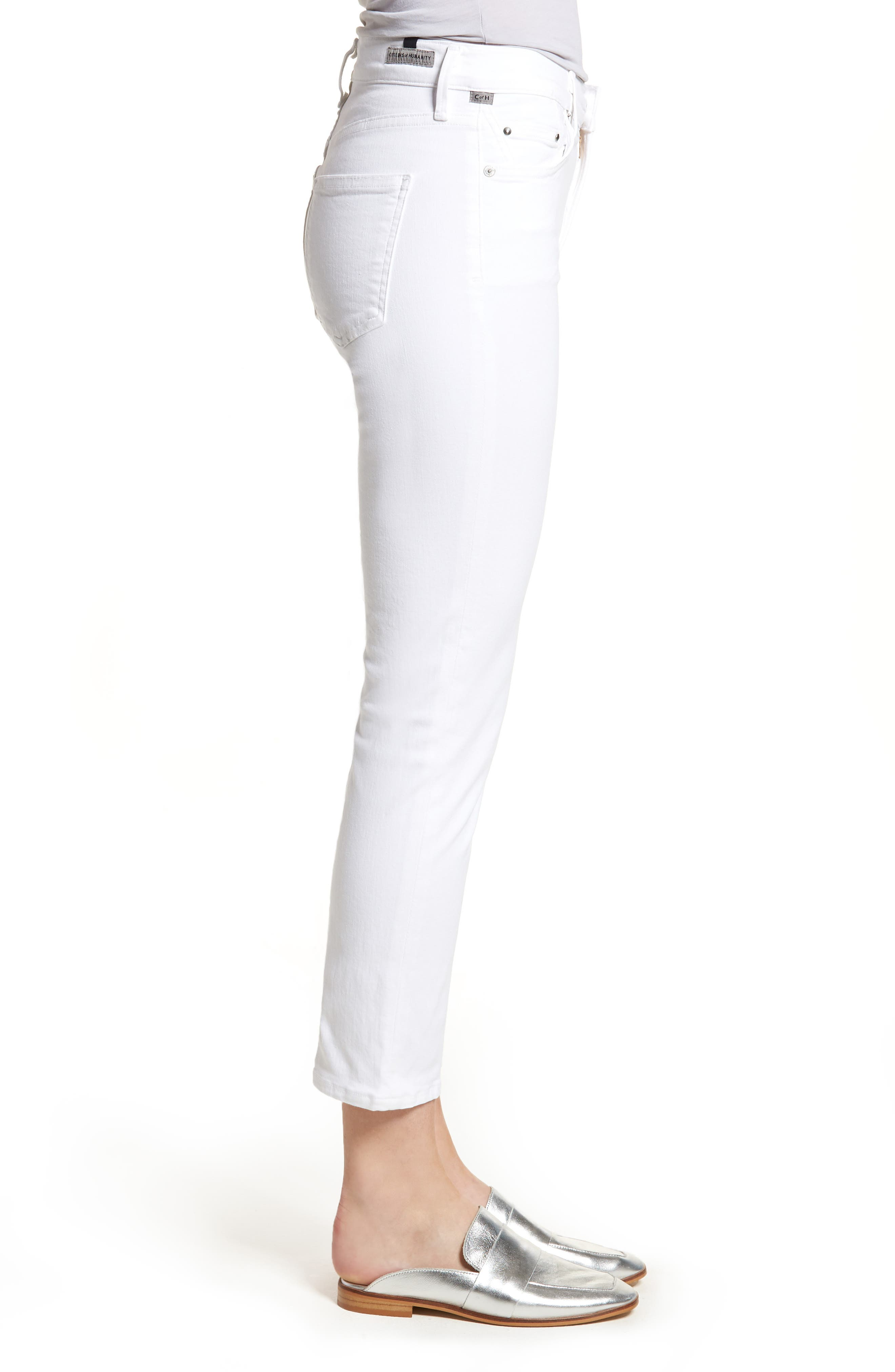 Alternate Image 3  - Citizens of Humanity Cara Ankle Cigarette Jeans (Sculpt White)