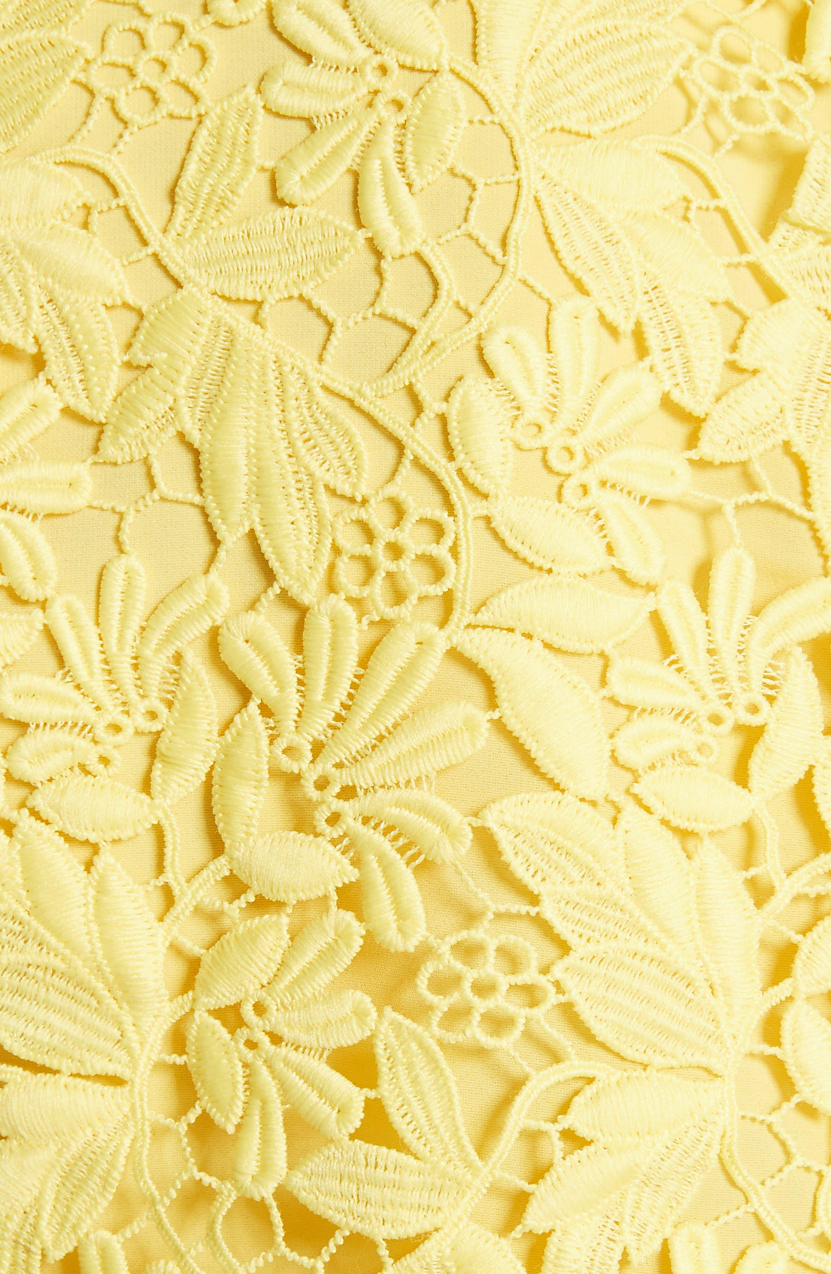 Franca Lace Top,                             Alternate thumbnail 5, color,                             Lemon