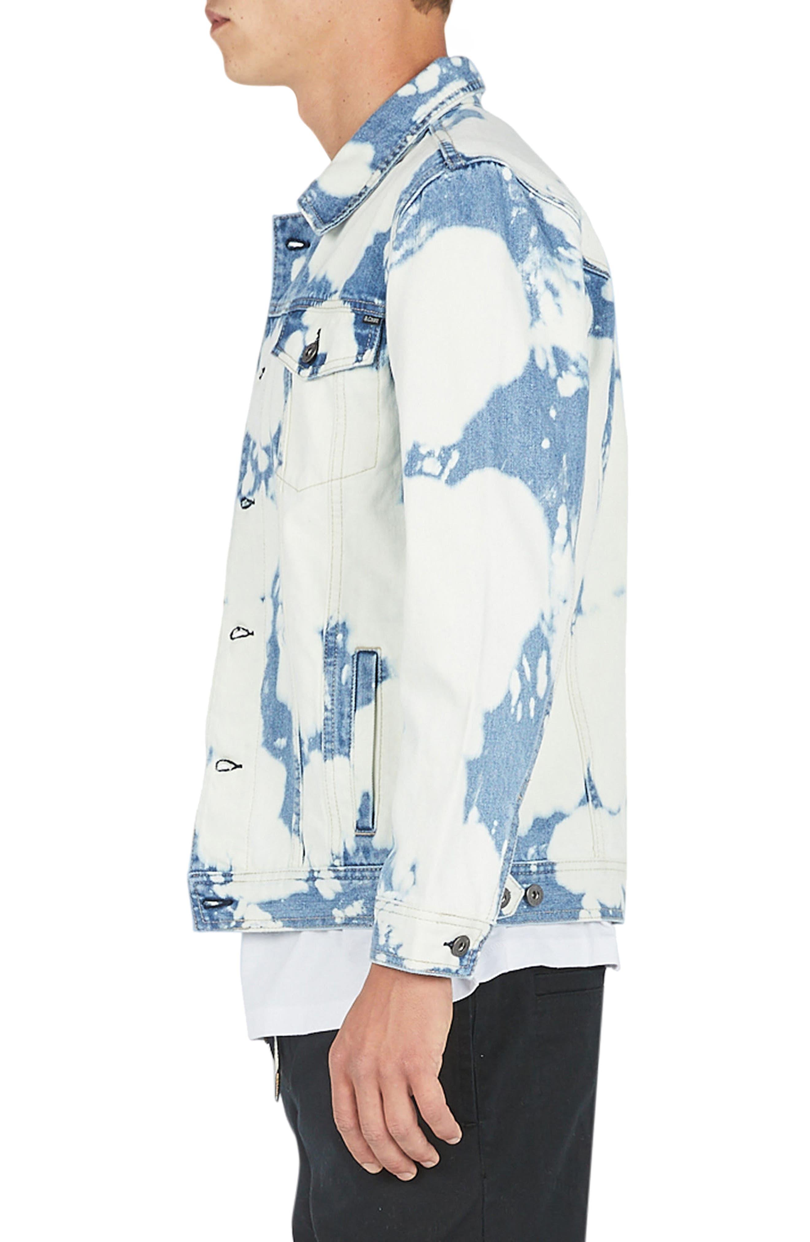 B. Rigid Denim Jacket,                             Alternate thumbnail 3, color,                             Bleached Blue