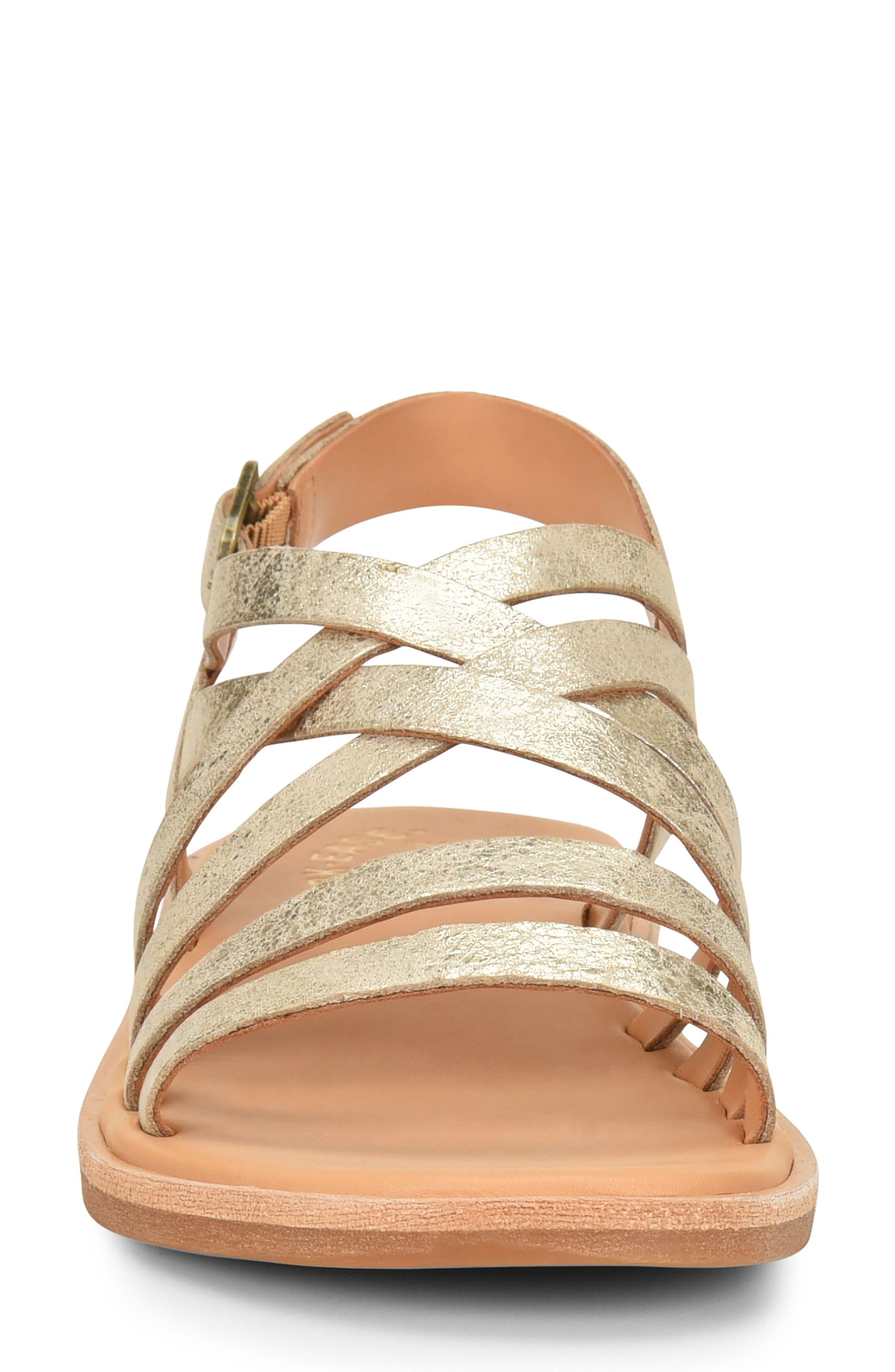 Nicobar Sandal,                             Alternate thumbnail 4, color,                             Gold Metallic Leather