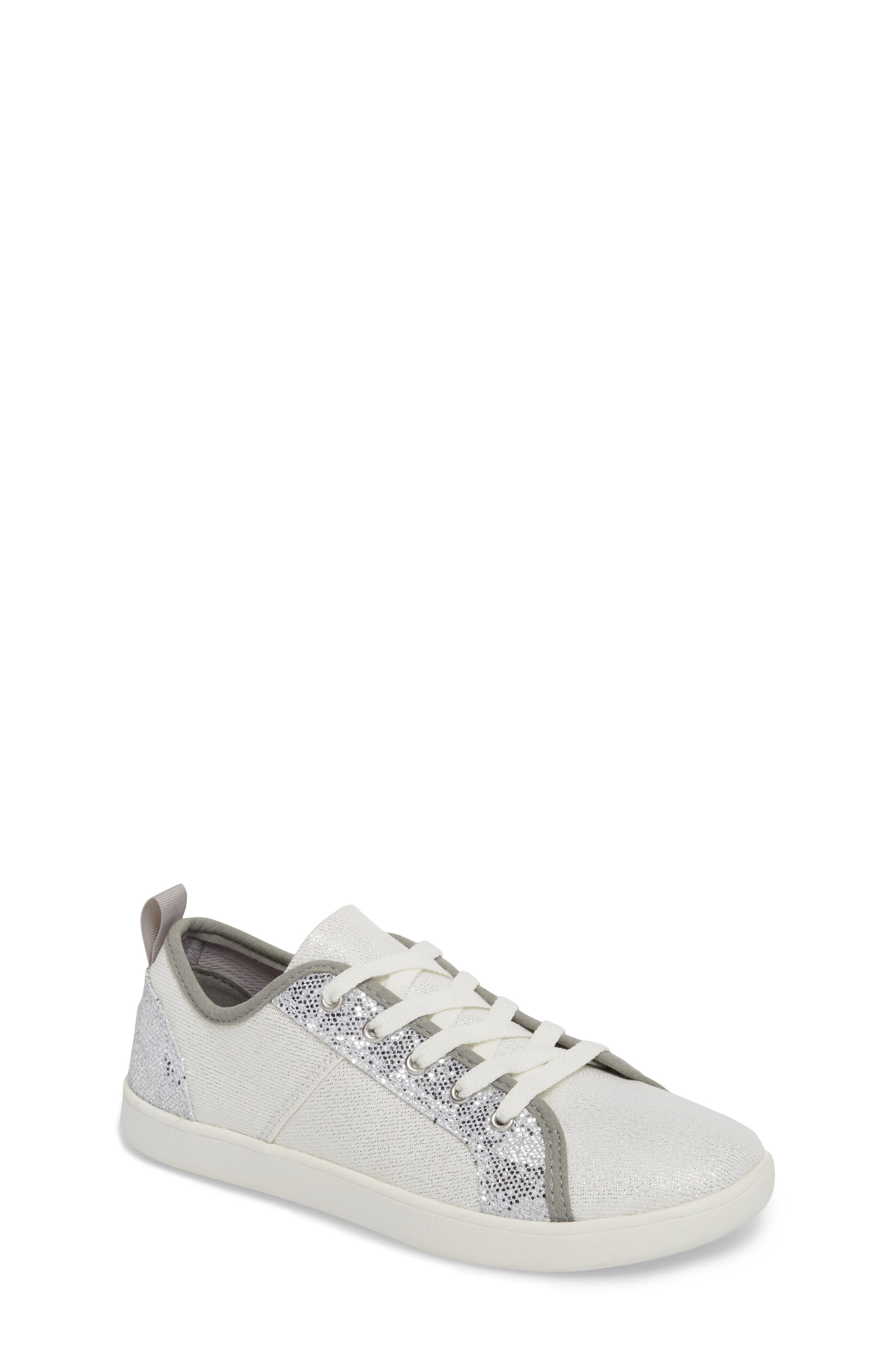 Irvin Sparkles Metallic Sneaker,                             Main thumbnail 1, color,                             Silver