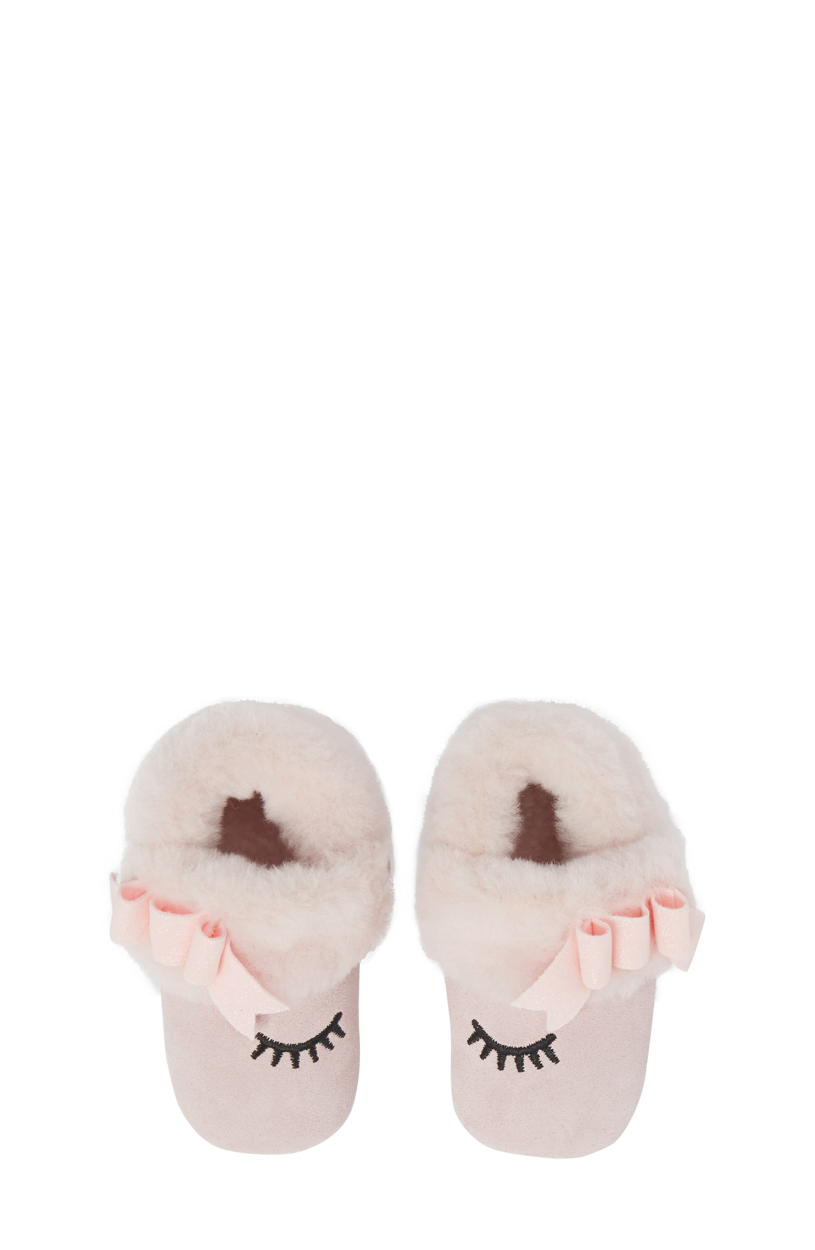 Blinxie Genuine Shearling Bootie,                             Main thumbnail 1, color,                             Seashell Pink