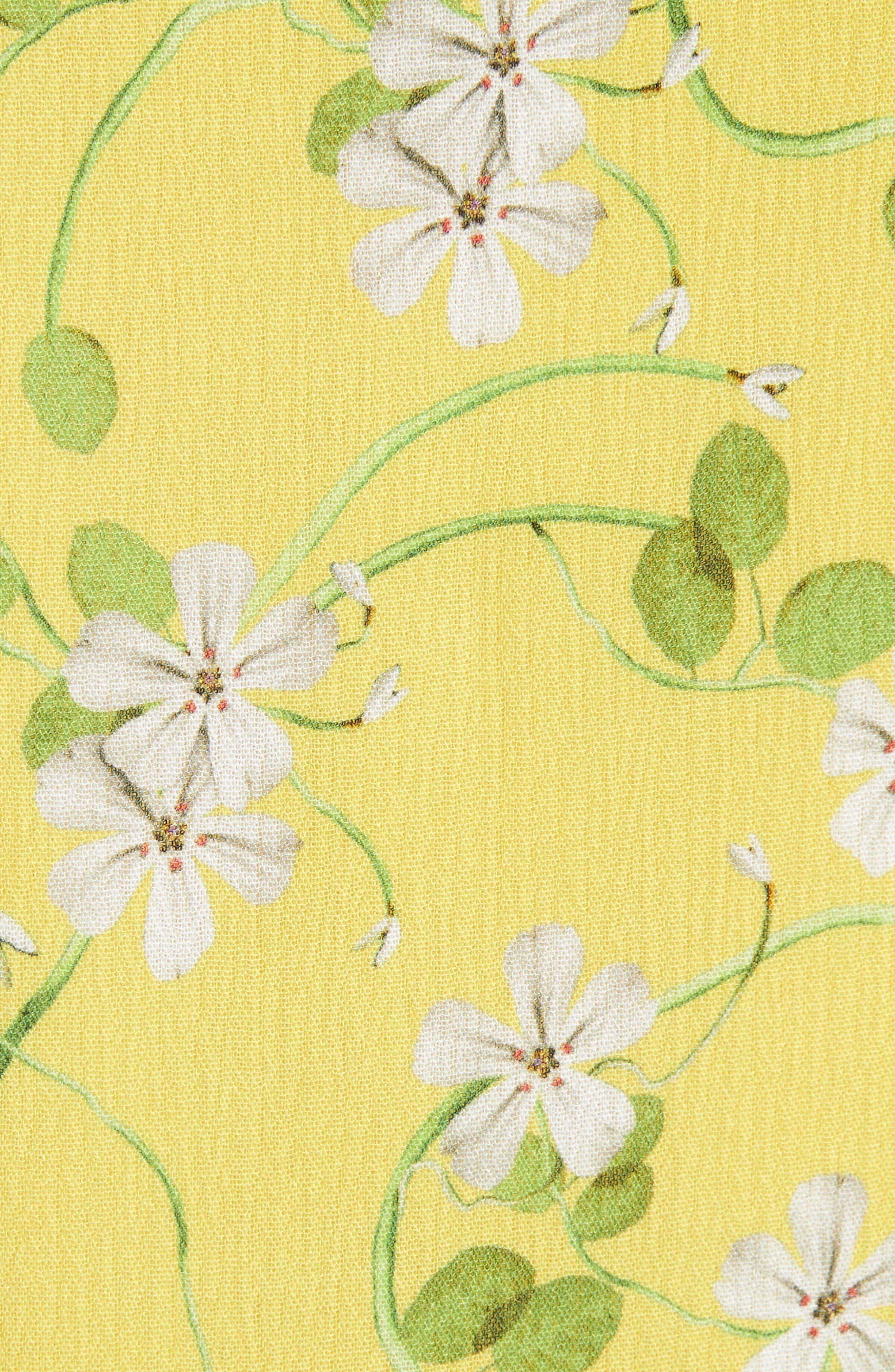 Moore Flutter Sleeve Layered Tunic Dress,                             Alternate thumbnail 5, color,                             Spring Primrose-Lemon