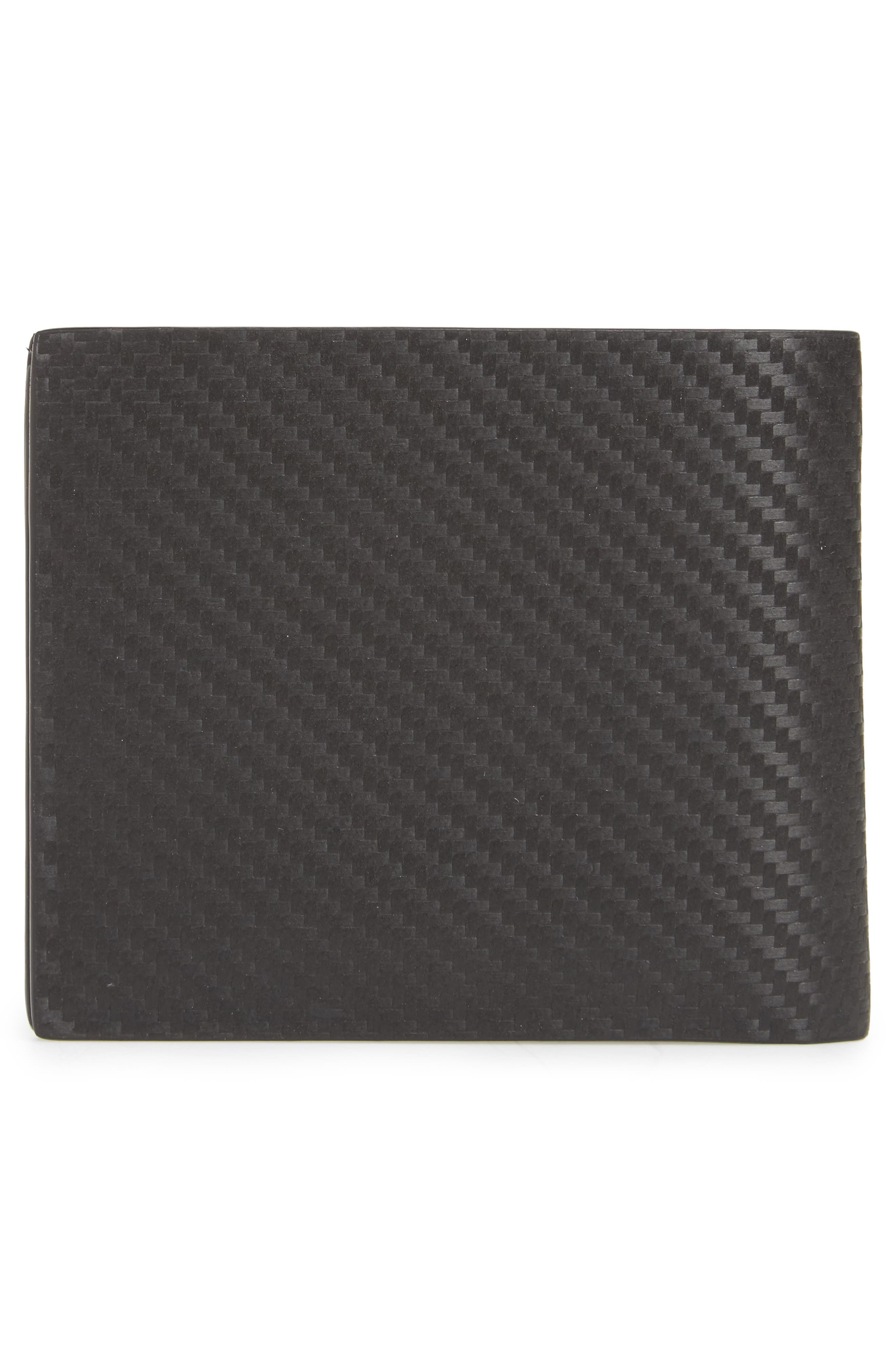 Chassis Leather Wallet,                             Alternate thumbnail 3, color,                             Black