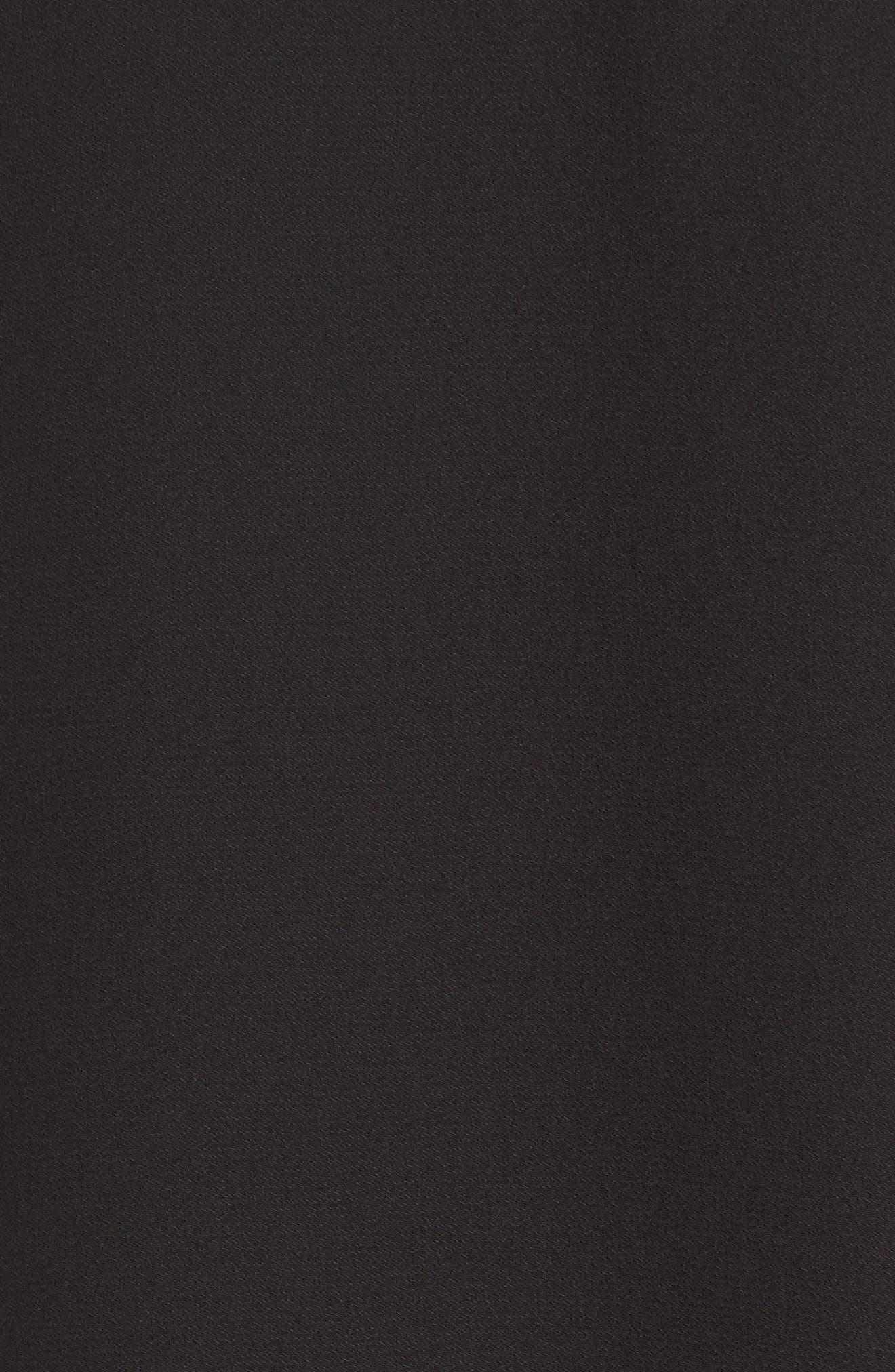 Ruffle Cold Shoulder Dress,                             Alternate thumbnail 6, color,                             Black