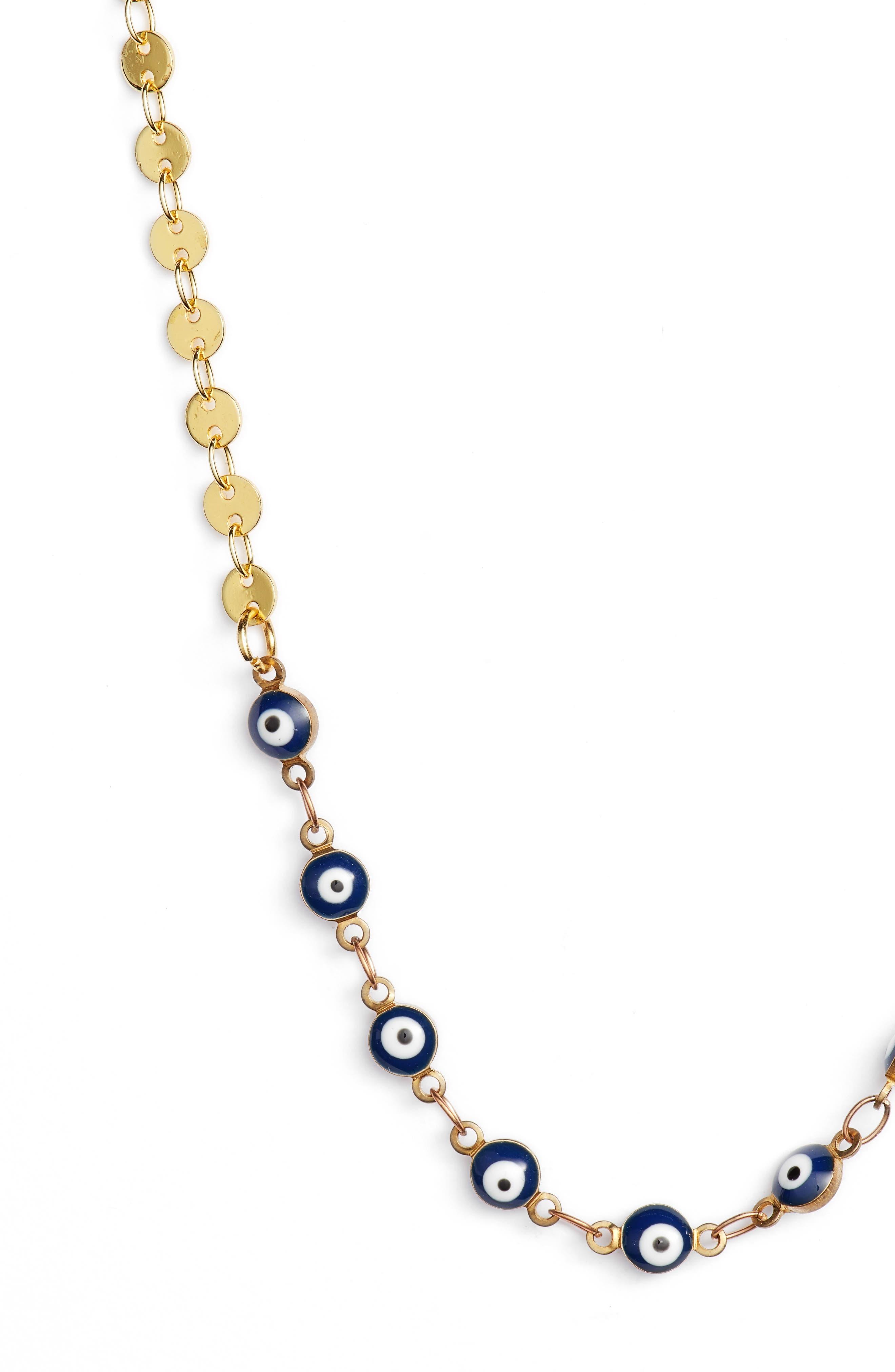 Abundance Necklace,                             Alternate thumbnail 2, color,                             Blue/ Gold