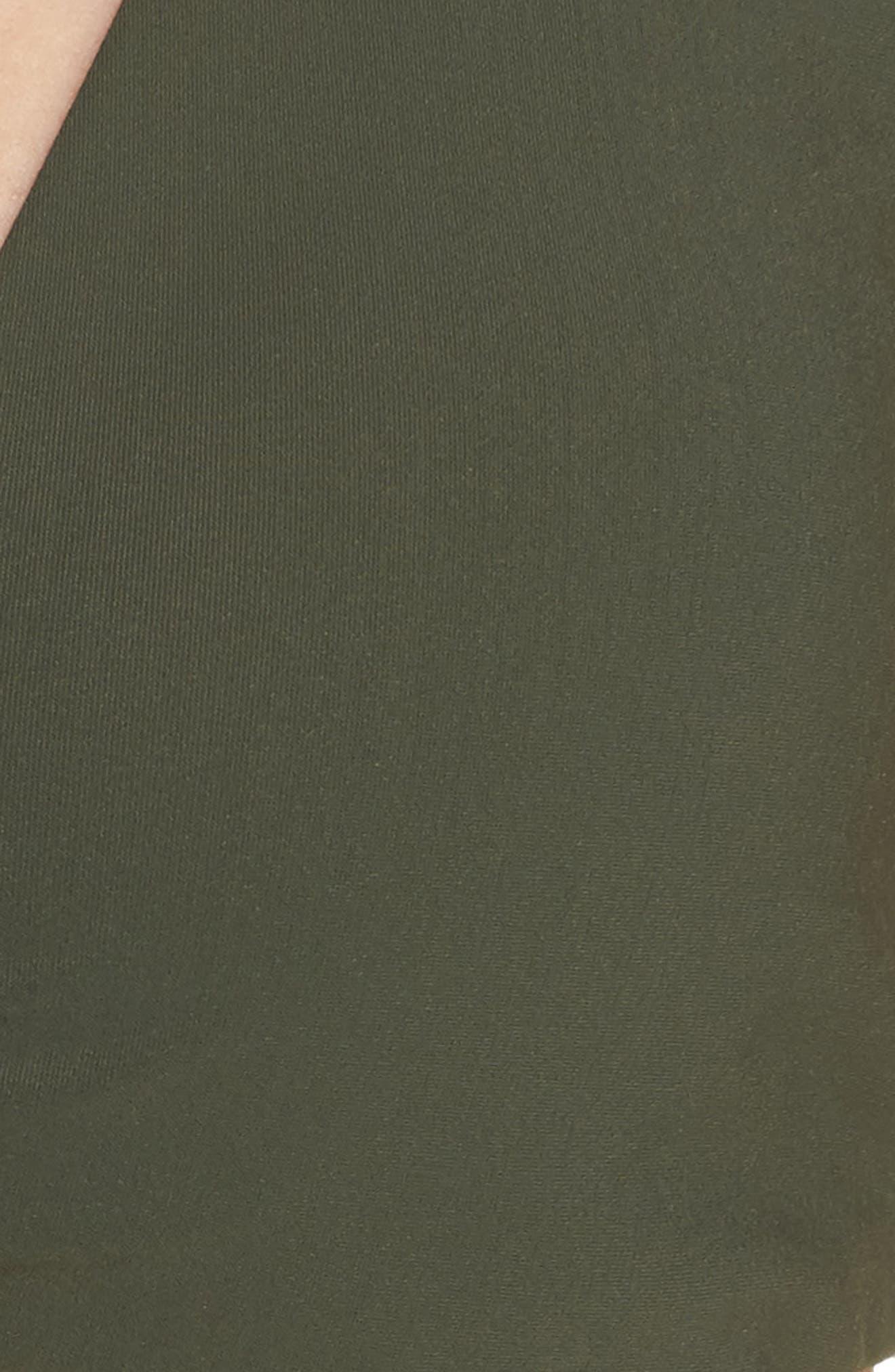 Biarritz Reversible Bikini Top,                             Alternate thumbnail 8, color,                             Green Olive/ Sweet Tangerine