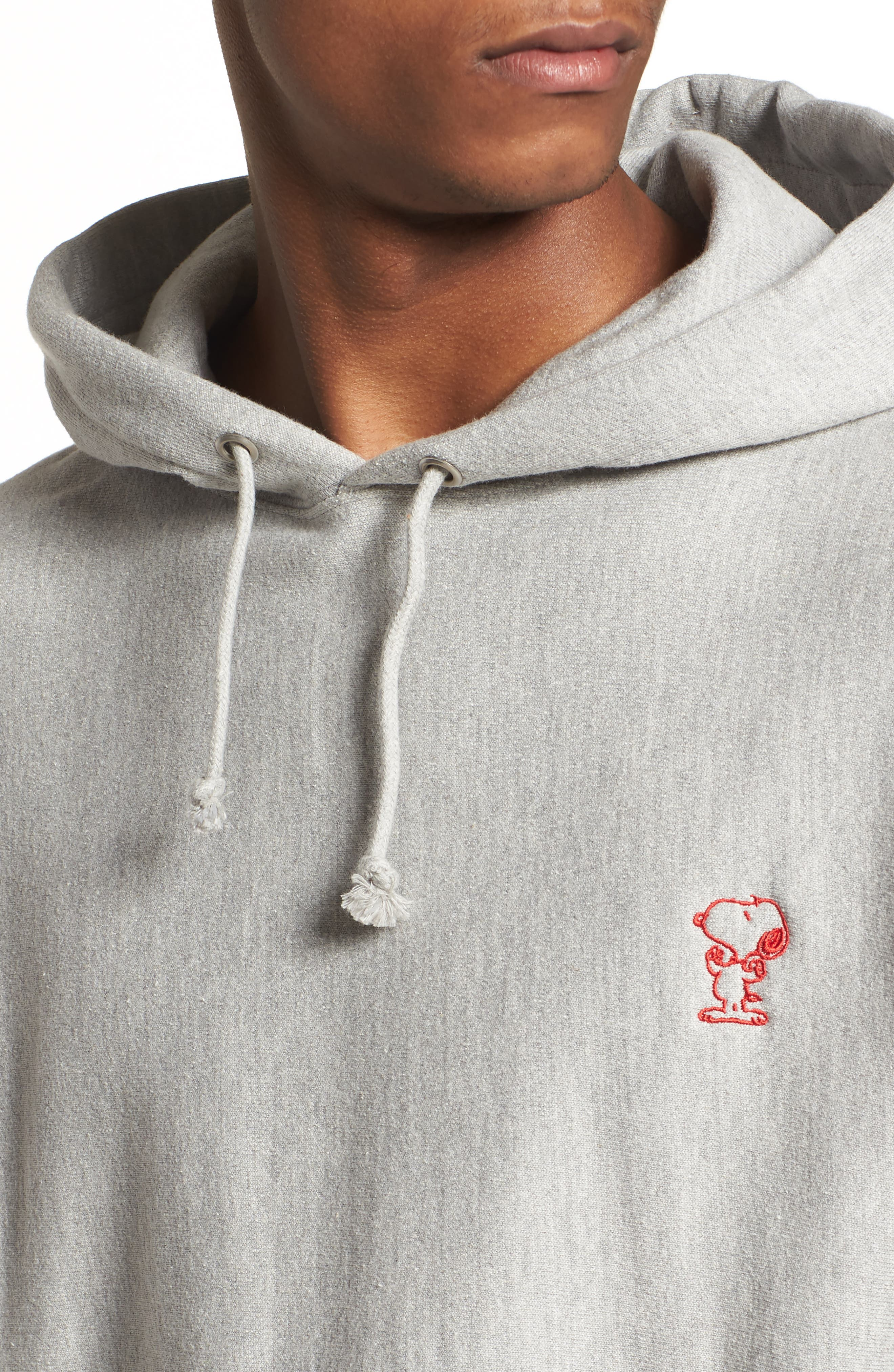 Snoopy Unisex Pullover Hoodie,                             Alternate thumbnail 5, color,                             Oxford Grey