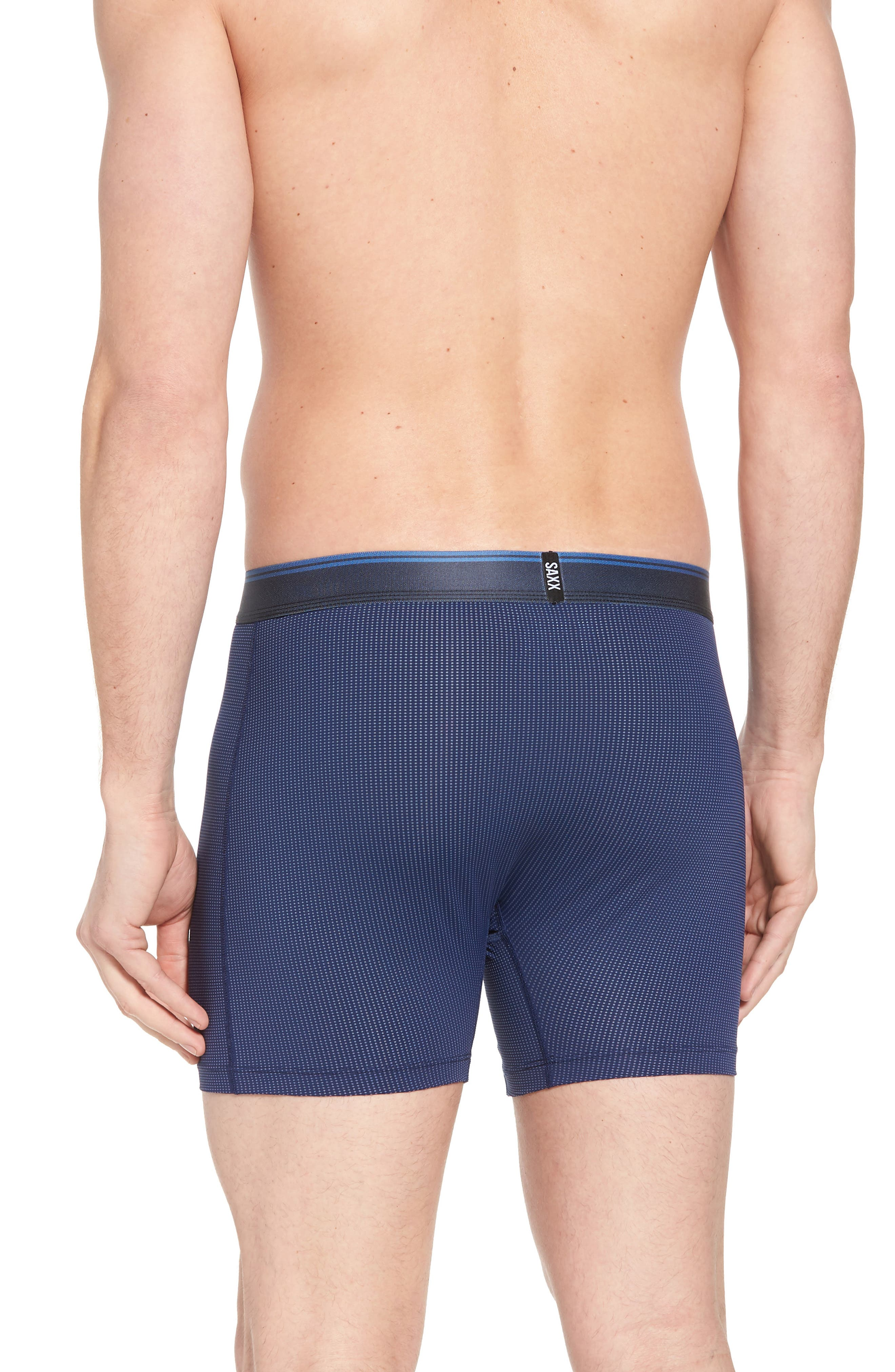 Quest 2.0 Stretch Boxer Briefs,                             Alternate thumbnail 2, color,                             Midnight Blue