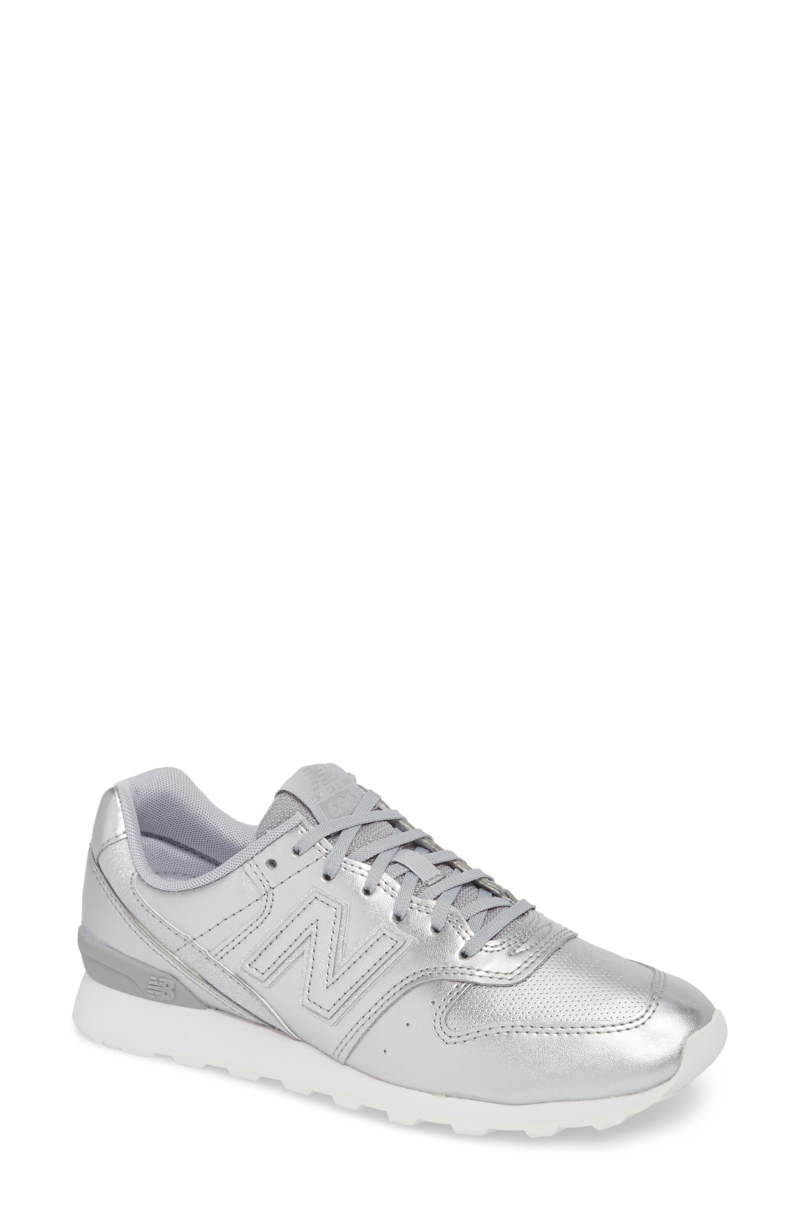 696 Sneaker,                         Main,                         color, Metallic Silver