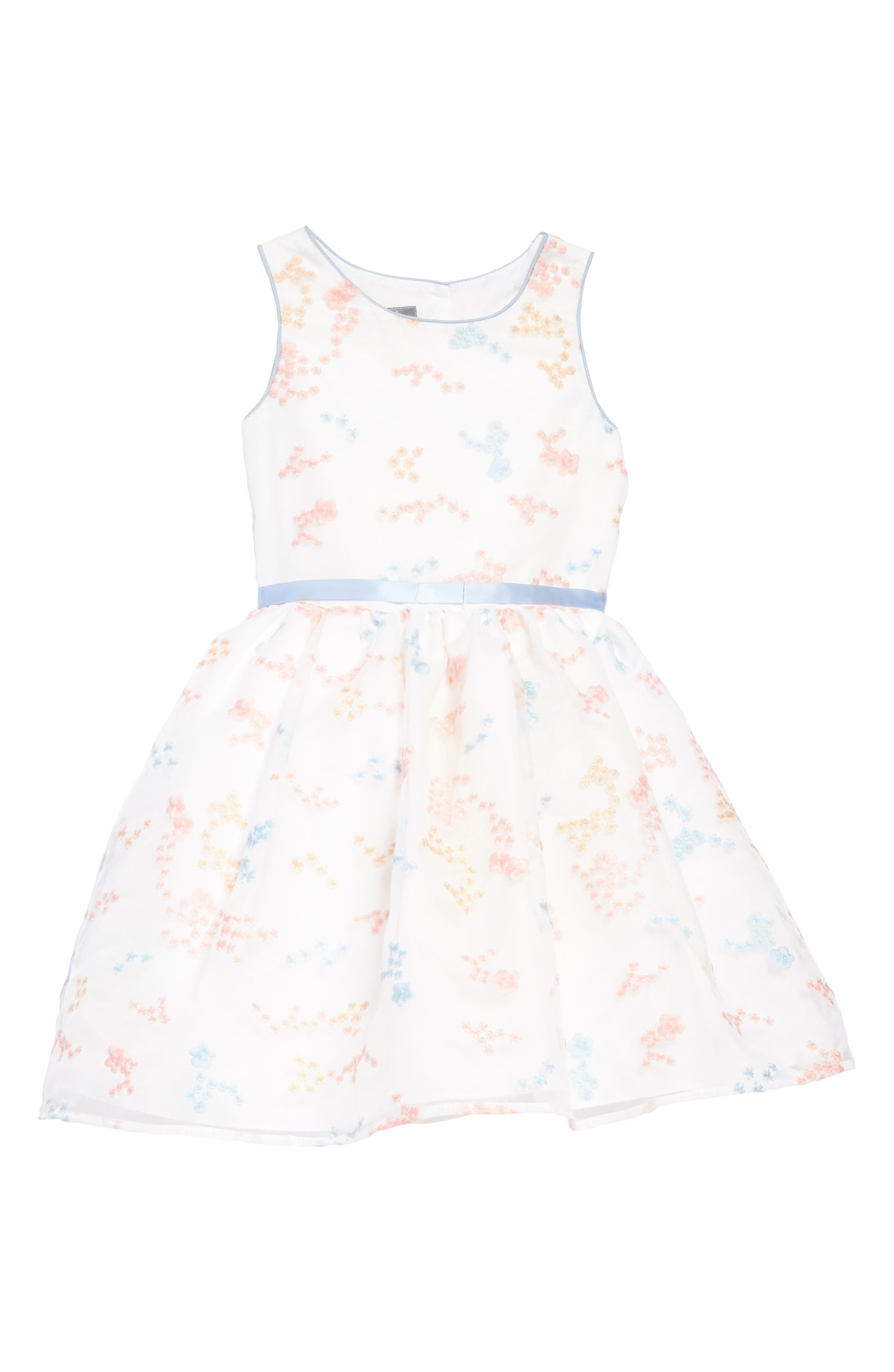 Pastourelle by Pippa & Julie Floral Embroidered Dress (Toddler Girls, Little Girls & Big Girls)