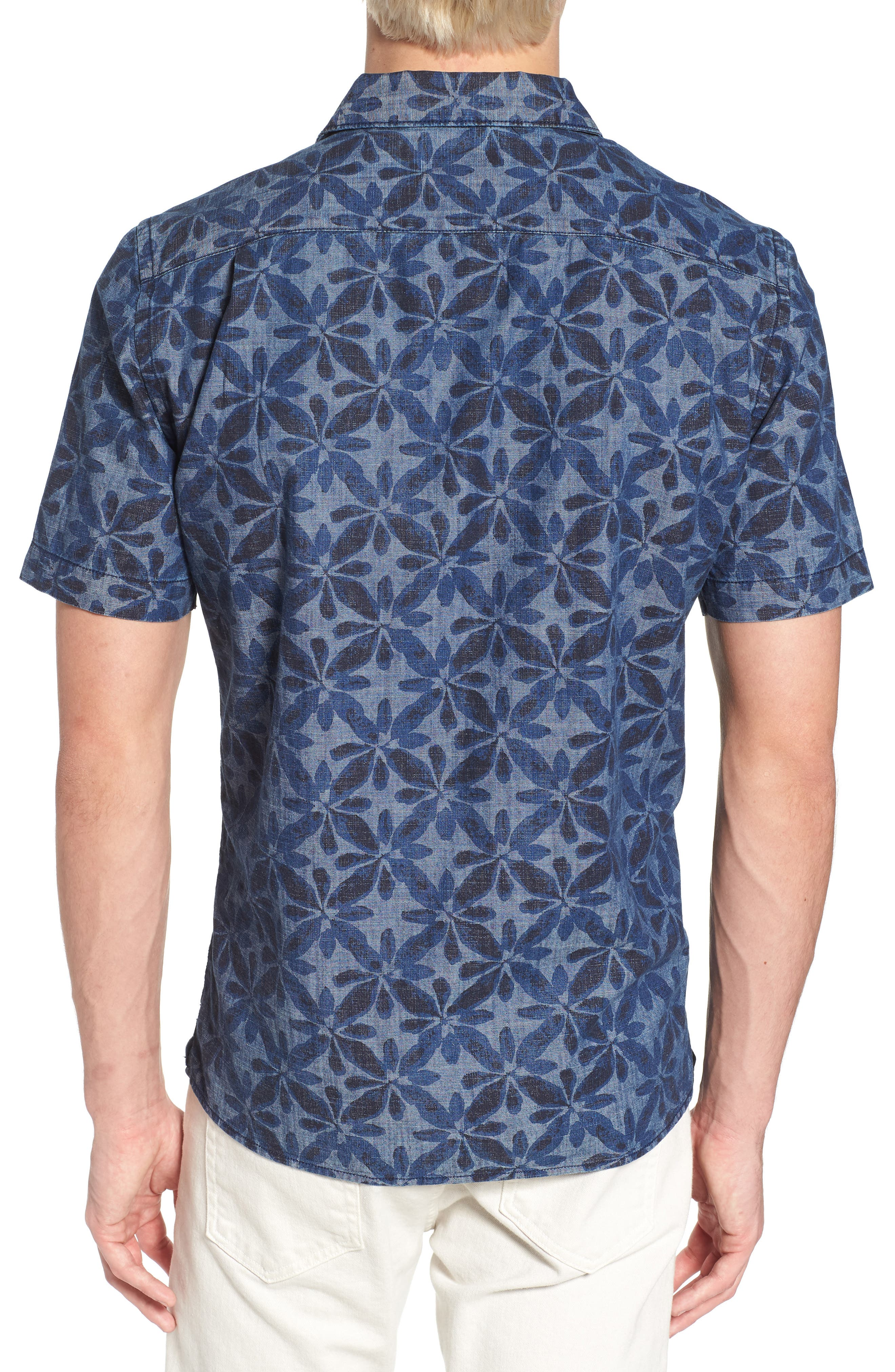 Franju Floral Slim Fit Woven Shirt,                             Alternate thumbnail 2, color,                             Rinse And Softener