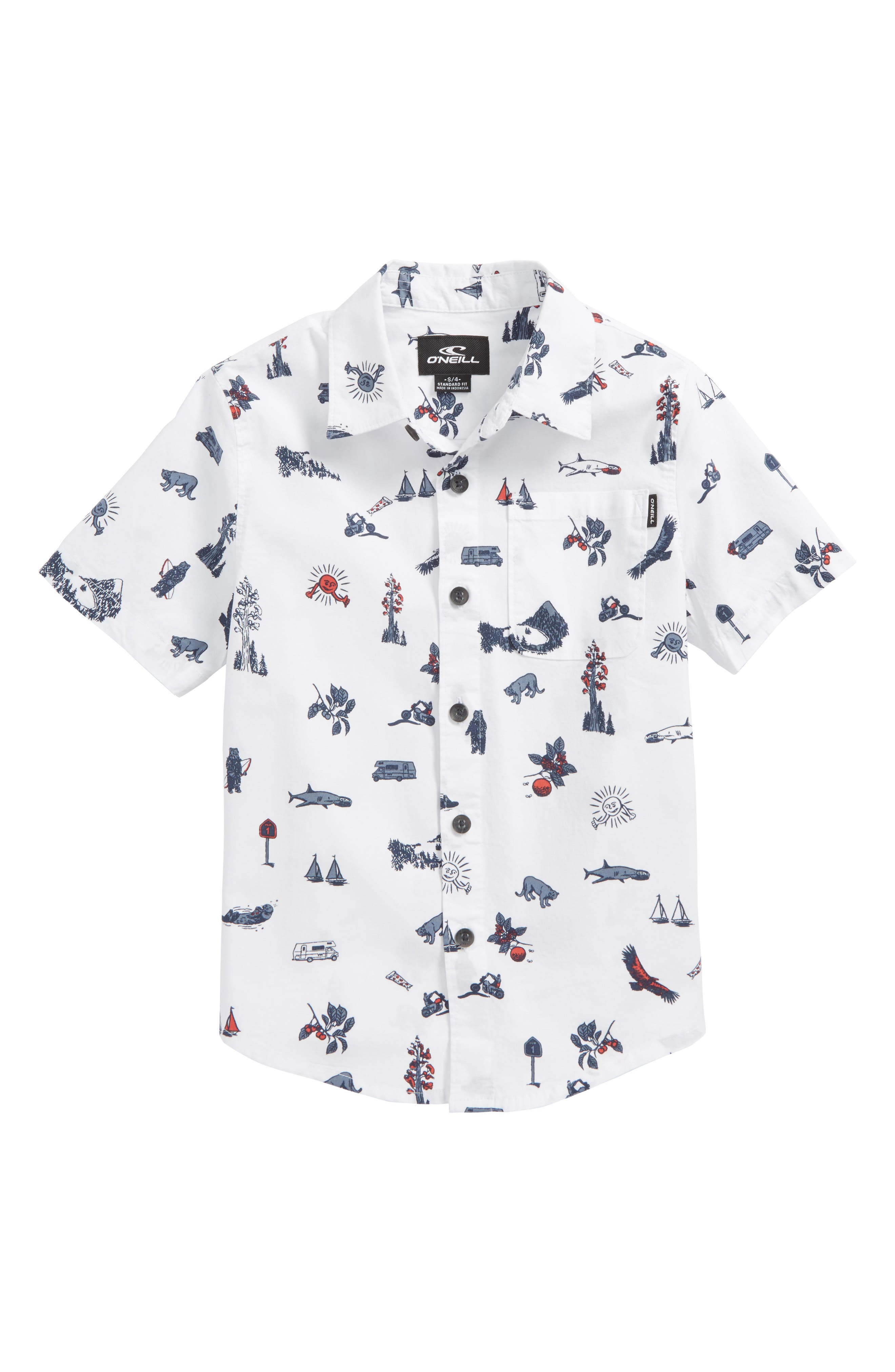 Squawker Woven Shirt,                         Main,                         color, White
