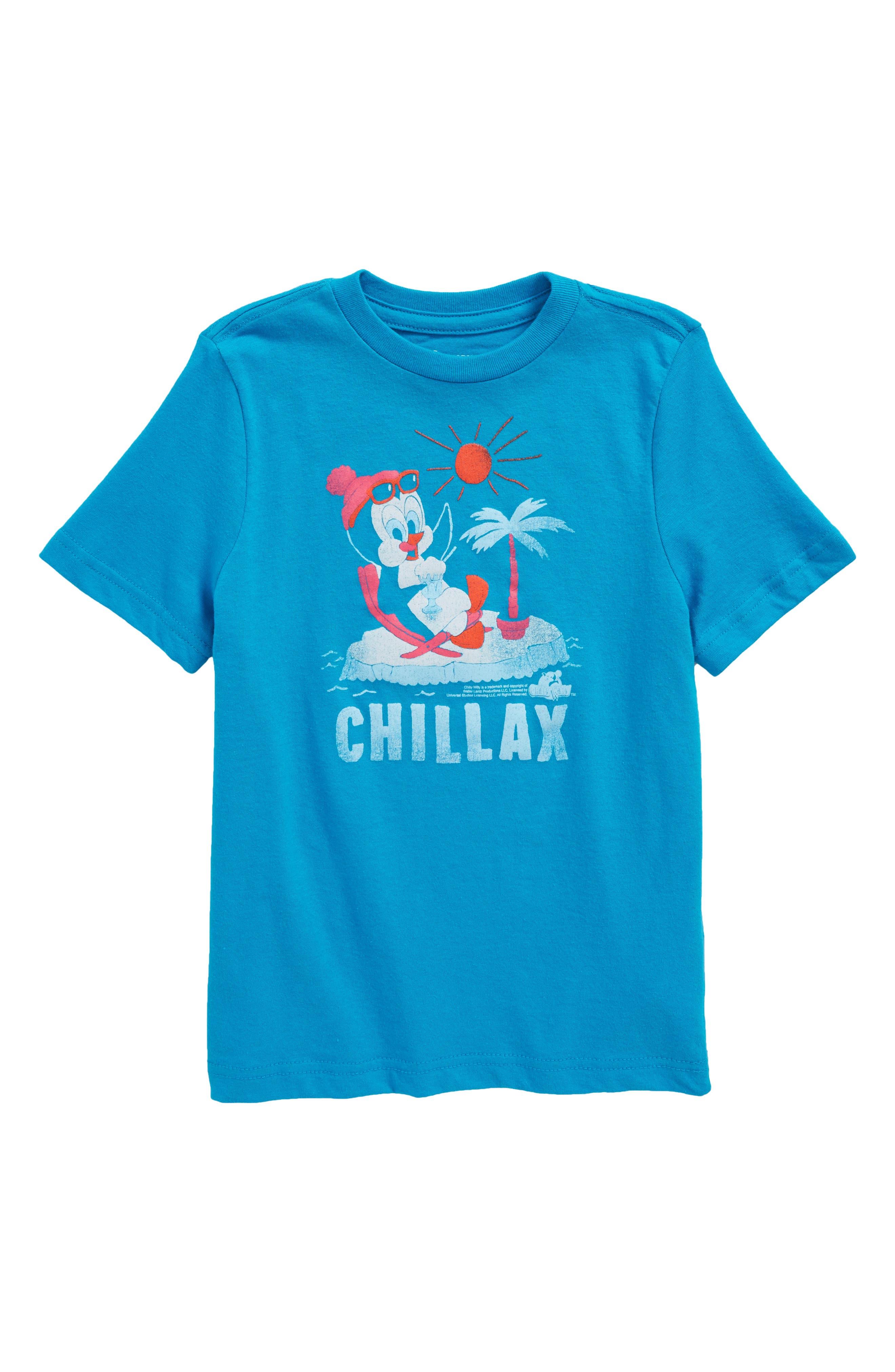 Graphic T-Shirt,                             Main thumbnail 1, color,                             Blue Greece Chillax