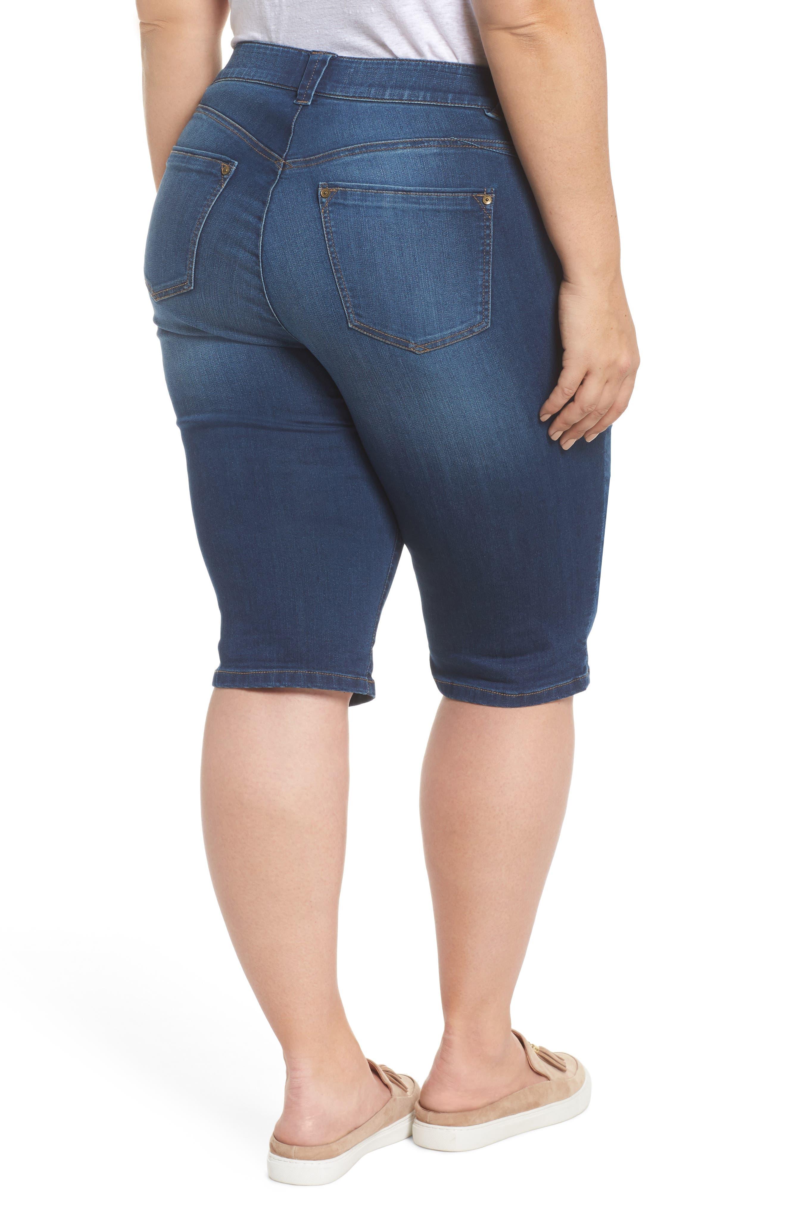 Ab-solution Denim Bermuda Shorts,                             Alternate thumbnail 2, color,                             Blue