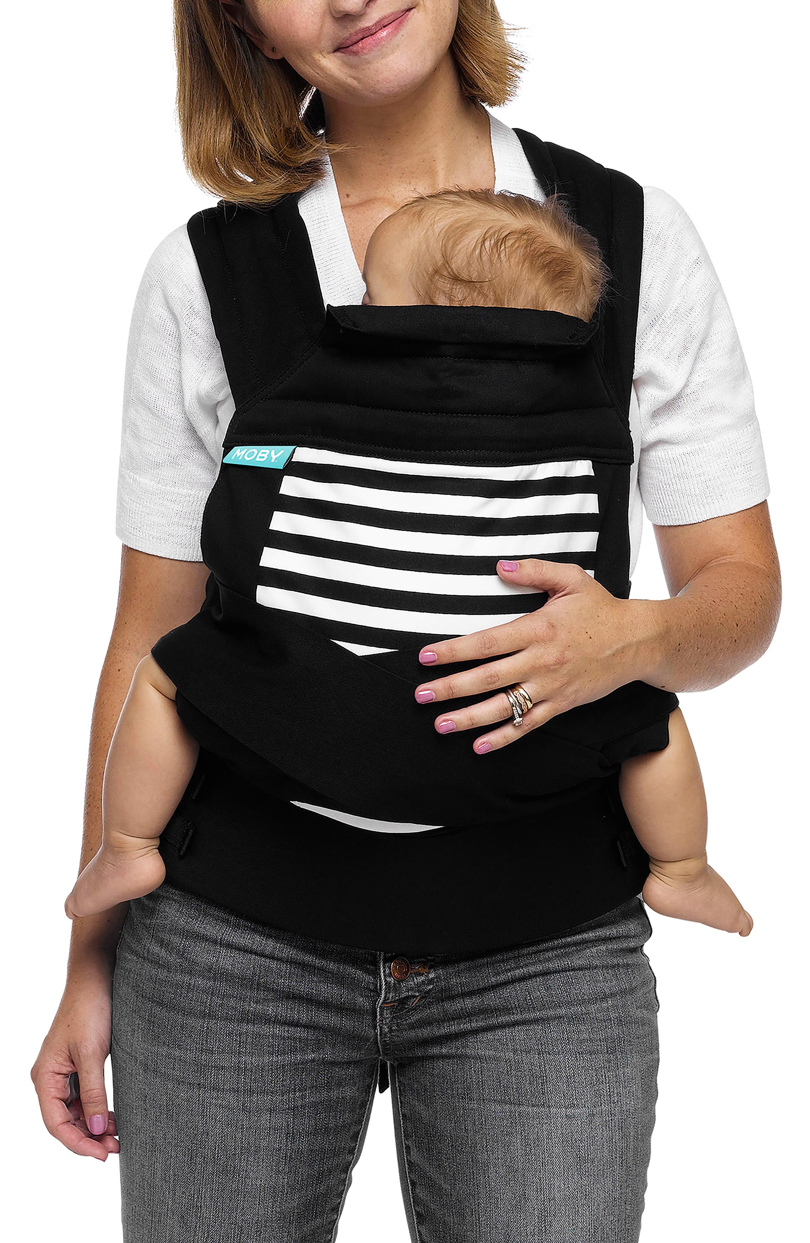 Wrap Buckle Baby Carrier,                             Main thumbnail 1, color,                             Stripes
