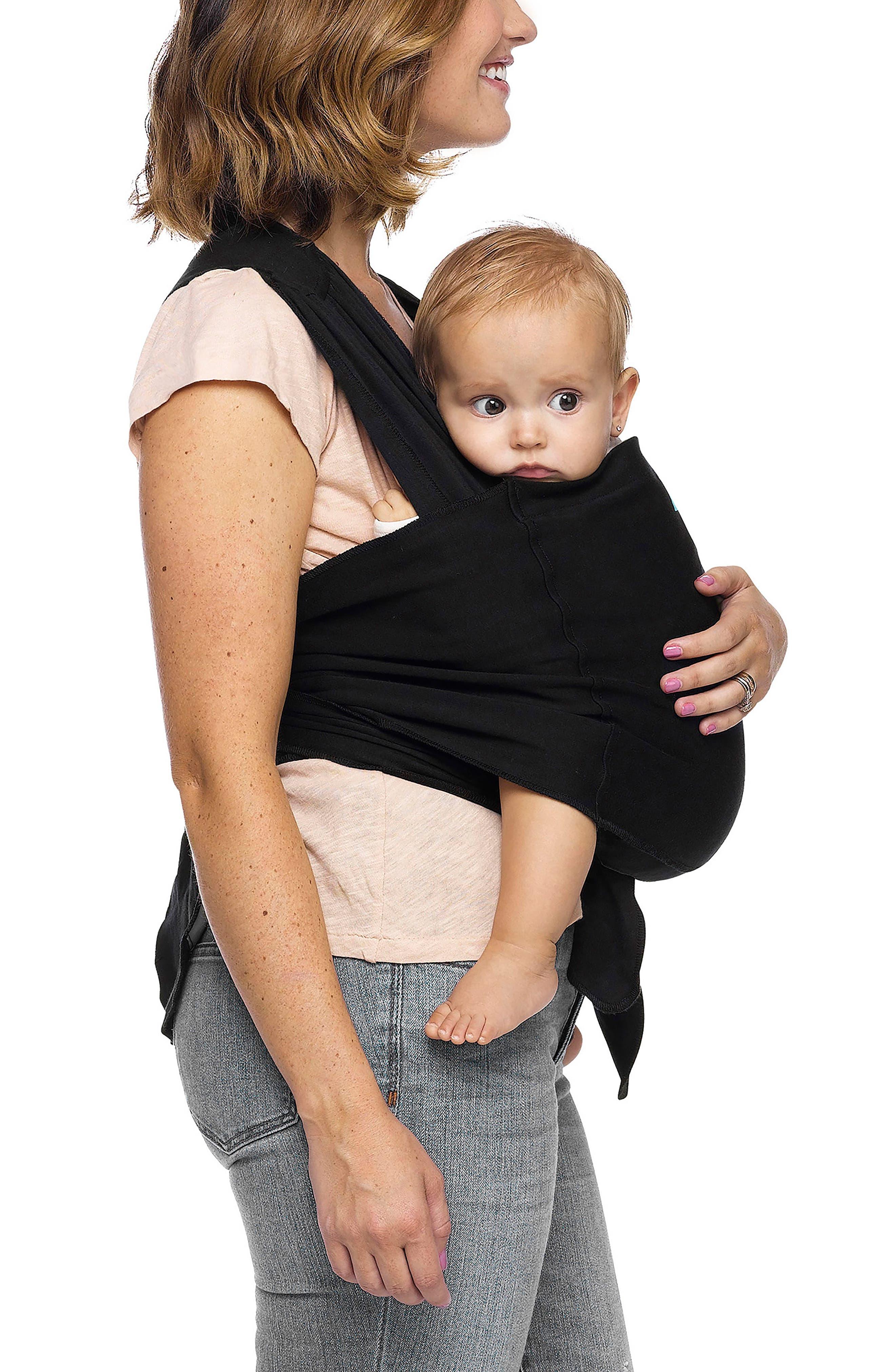 Wrap Fit Hybrid Baby Carrier,                             Alternate thumbnail 3, color,                             Black