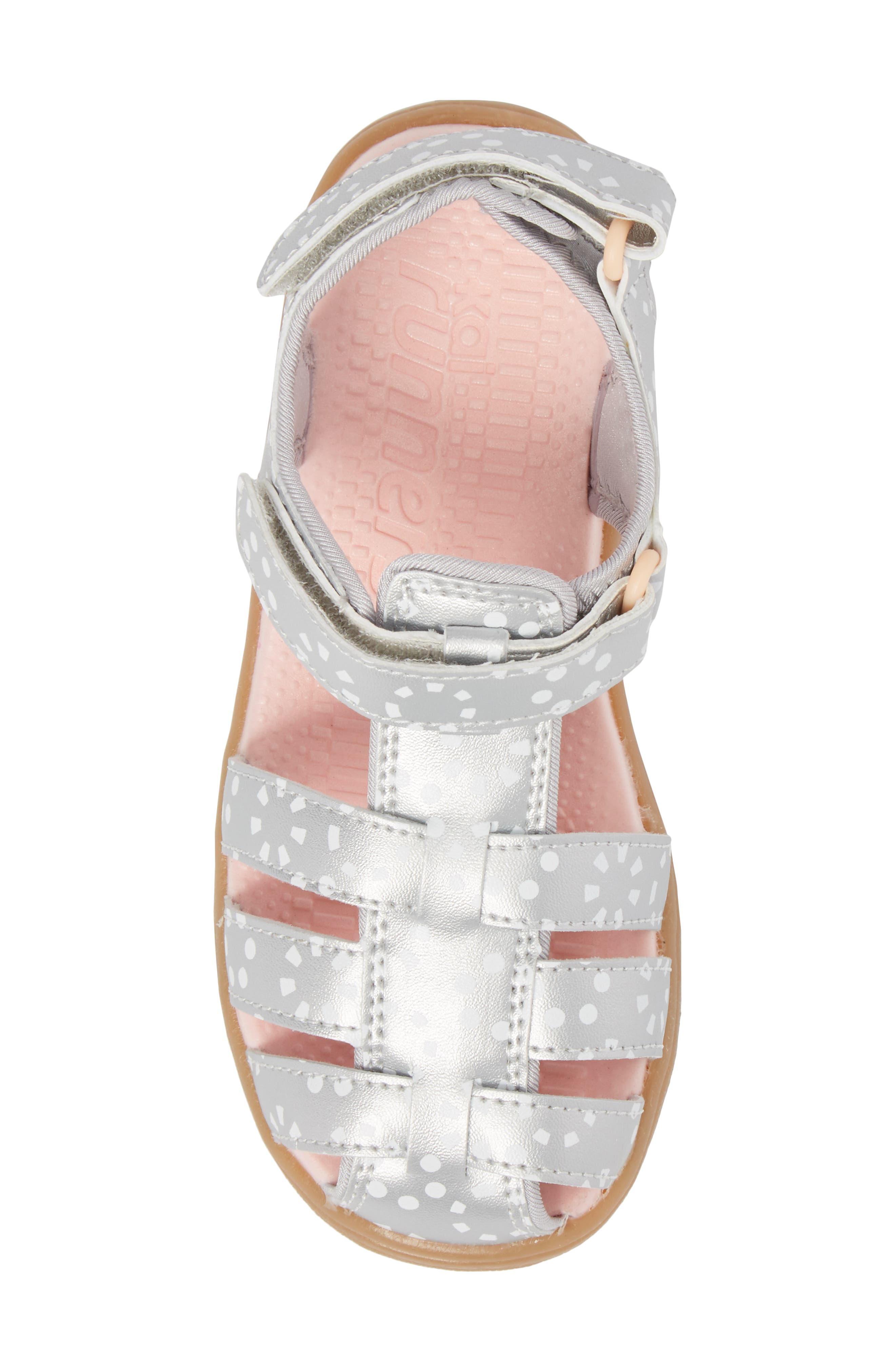Paley Water Friendly Fisherman Sandal,                             Alternate thumbnail 6, color,                             Silver/ White