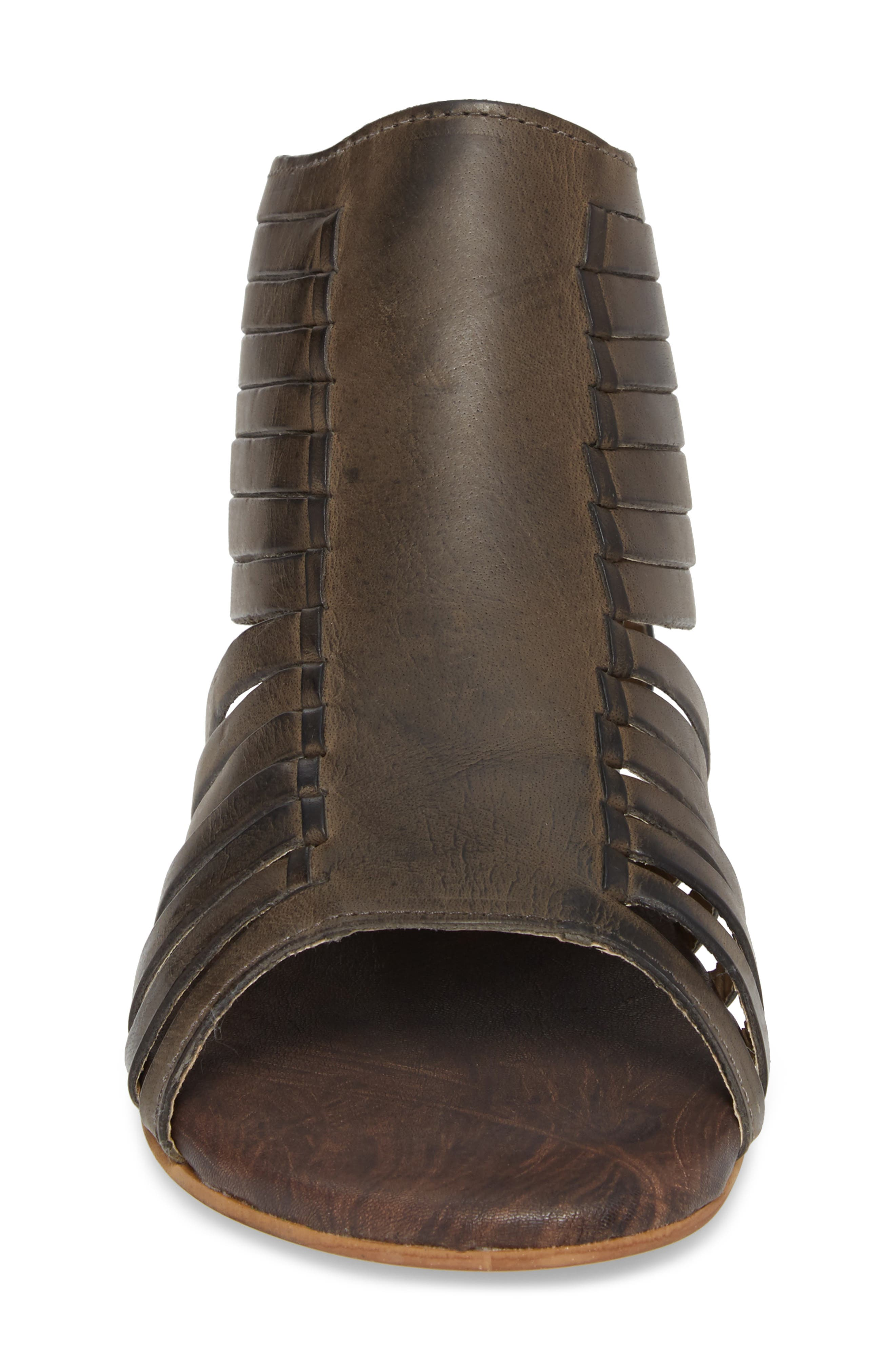 Pearl Gladiator Sandal,                             Alternate thumbnail 4, color,                             Black Greenland