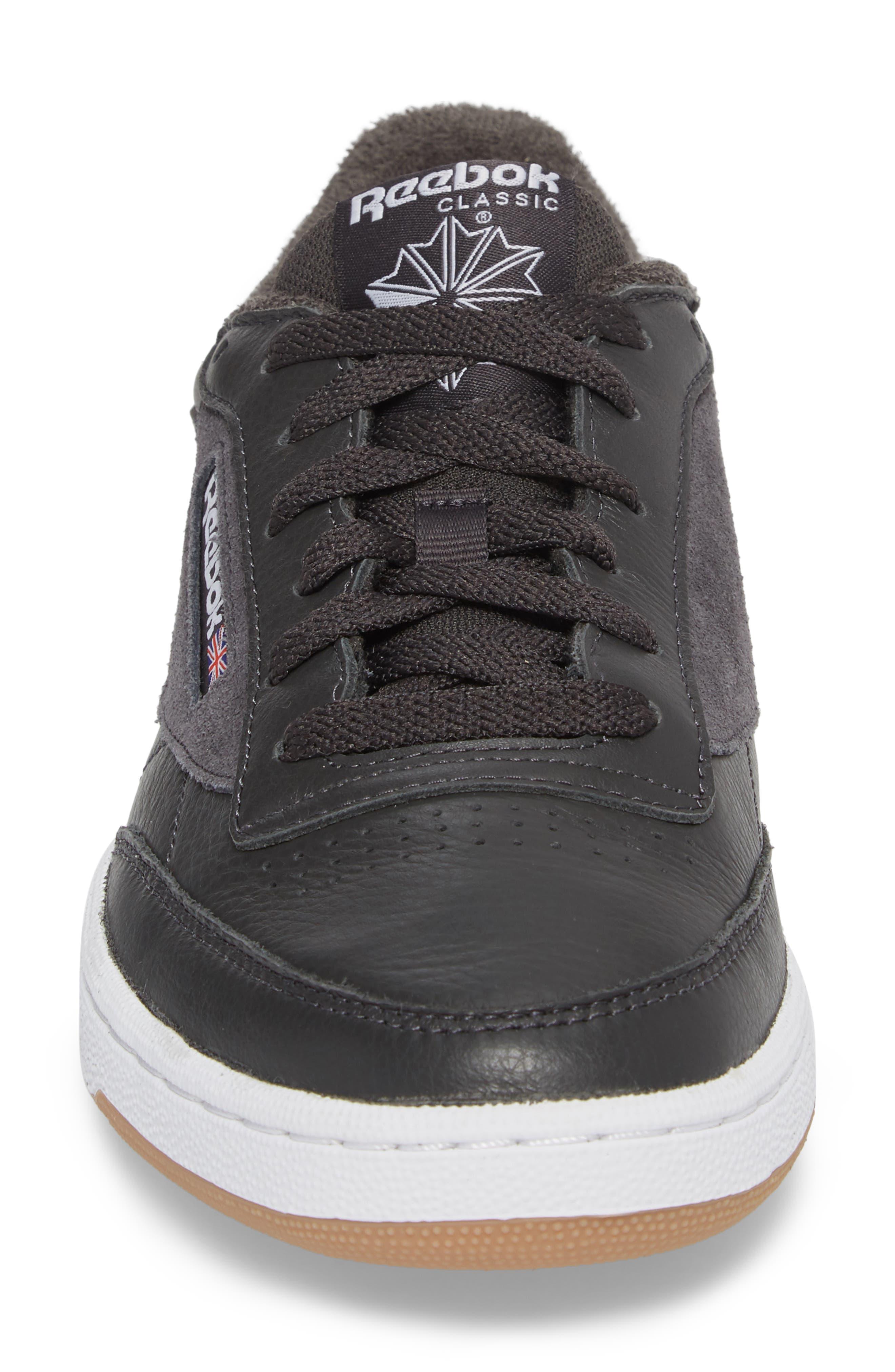 Club C 85 ESTL Sneaker,                             Alternate thumbnail 4, color,                             Coal/ White/ Washed Blue