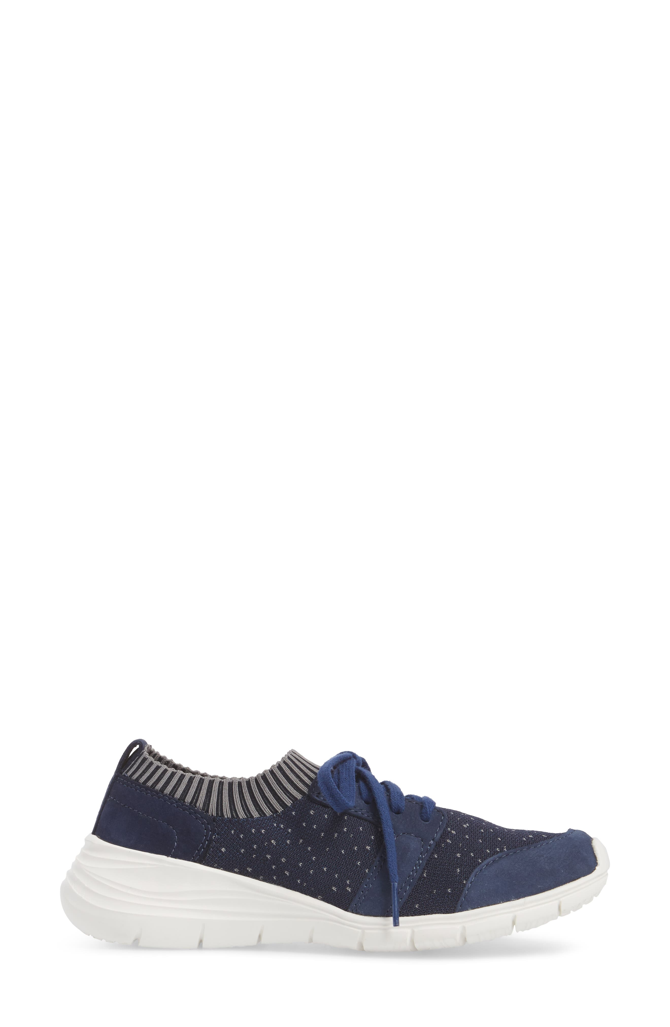 Cypress Knit Sneaker,                             Alternate thumbnail 3, color,                             Royal Navy Fabric