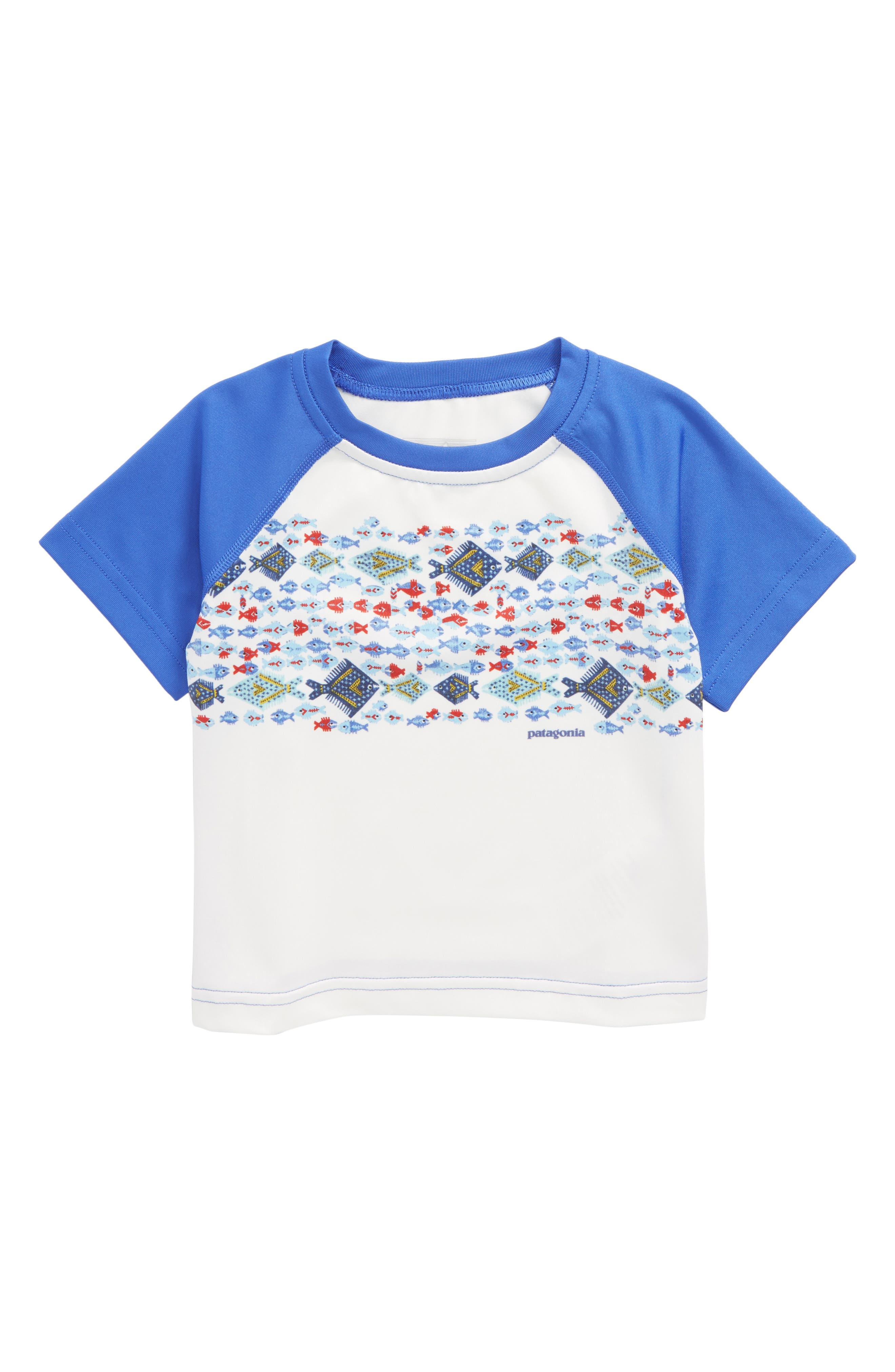 Capilene<sup>®</sup> Graphic T-Shirt,                         Main,                         color, Bwim Birch White Imperial Blue