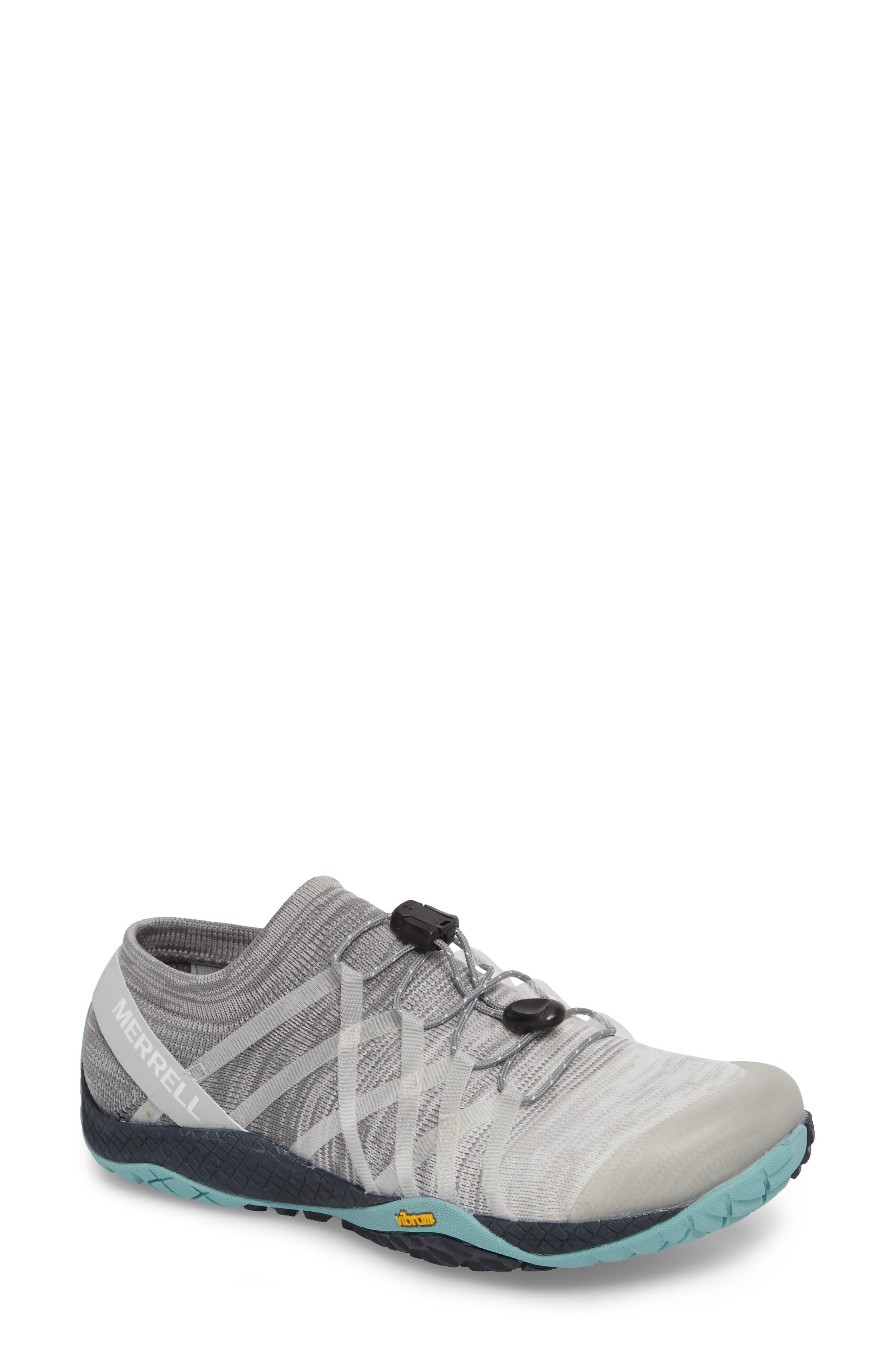 Trail Glove 4 Knit Running Shoe,                             Main thumbnail 1, color,                             Vapor