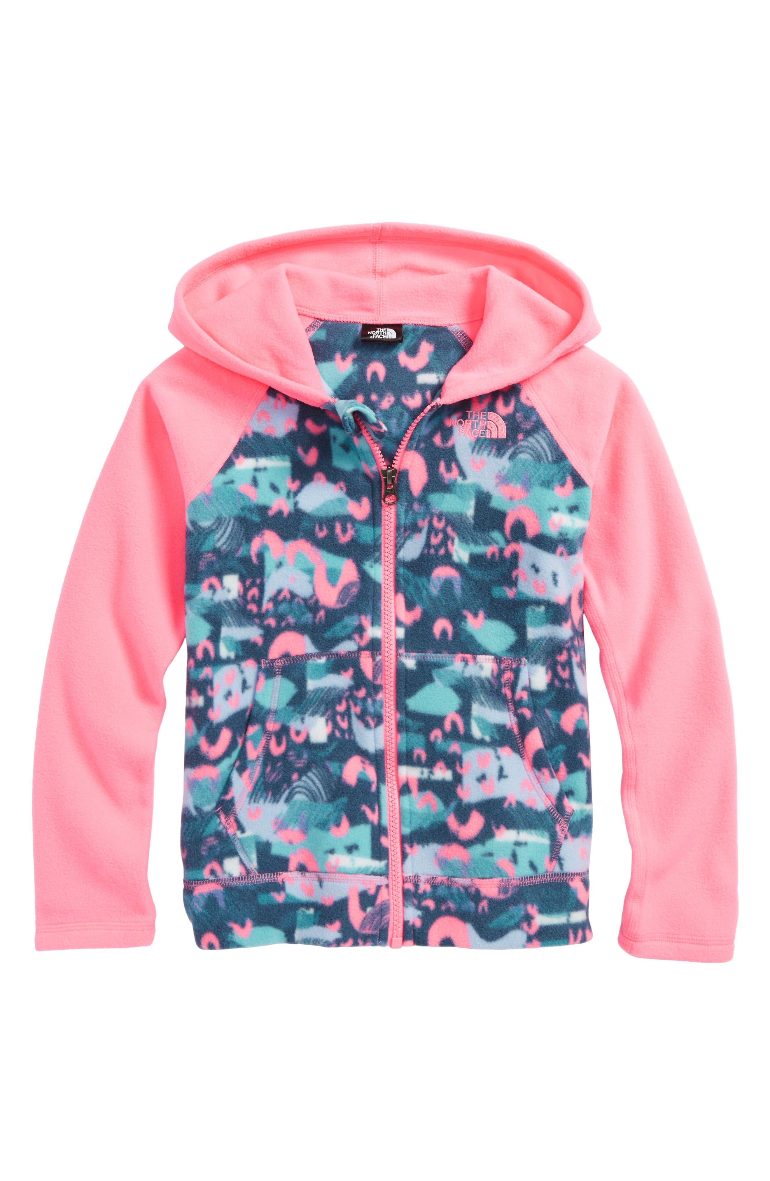 Glacier Full Zip Hoodie,                         Main,                         color, Gem Pink