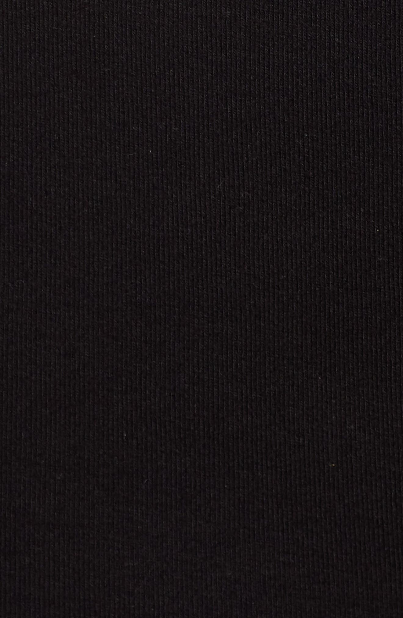 Rib Knit Lace-Up Skirt,                             Alternate thumbnail 5, color,                             Black