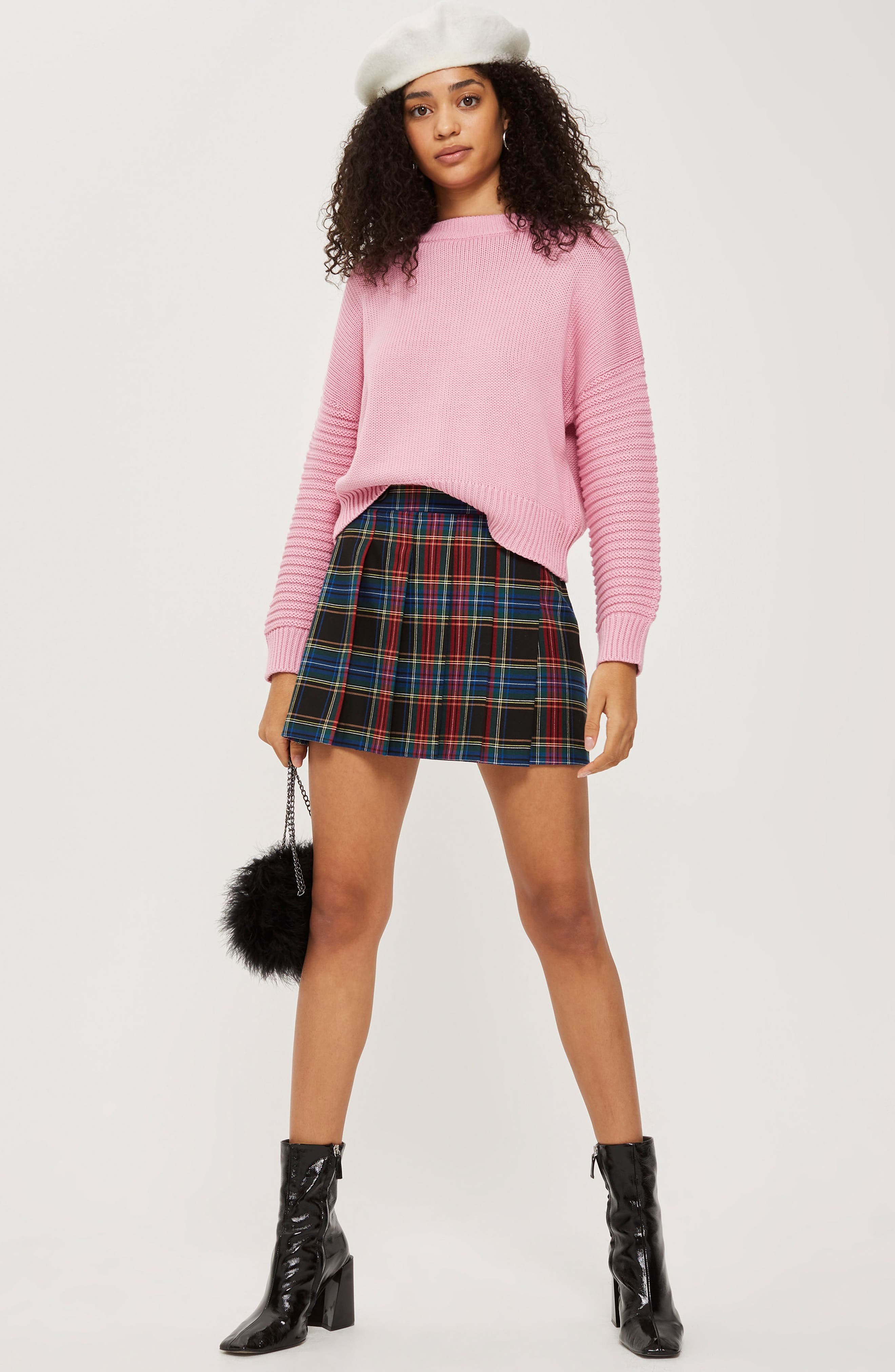 Stitch Detail Sleeve Sweater,                             Alternate thumbnail 2, color,                             Pink