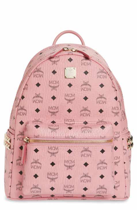 MCM Medium Stark Side Stud Coated Canvas Backpack e29f321328ba6