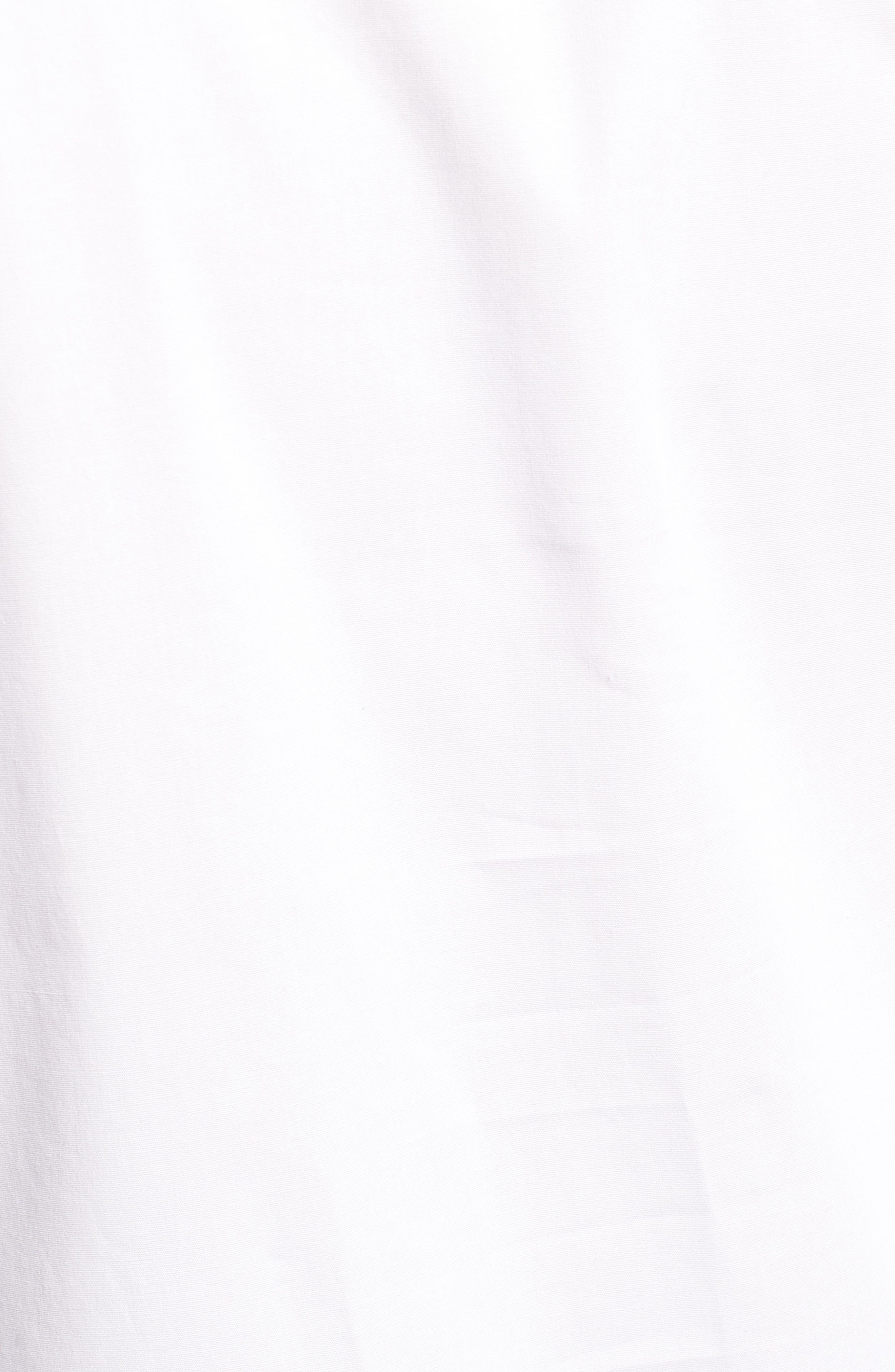 Split Neck Stretch Cotton Blouse,                             Alternate thumbnail 6, color,                             145-Ultra White