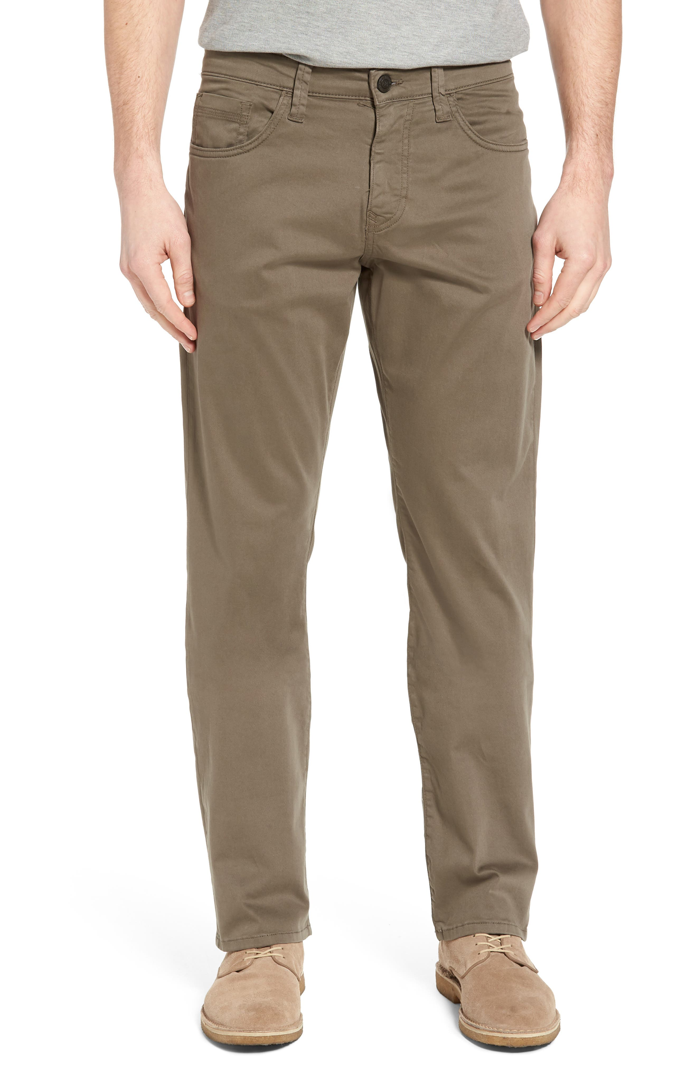 Matt Relaxed Fit Twill Pants,                         Main,                         color, Dusty Olive