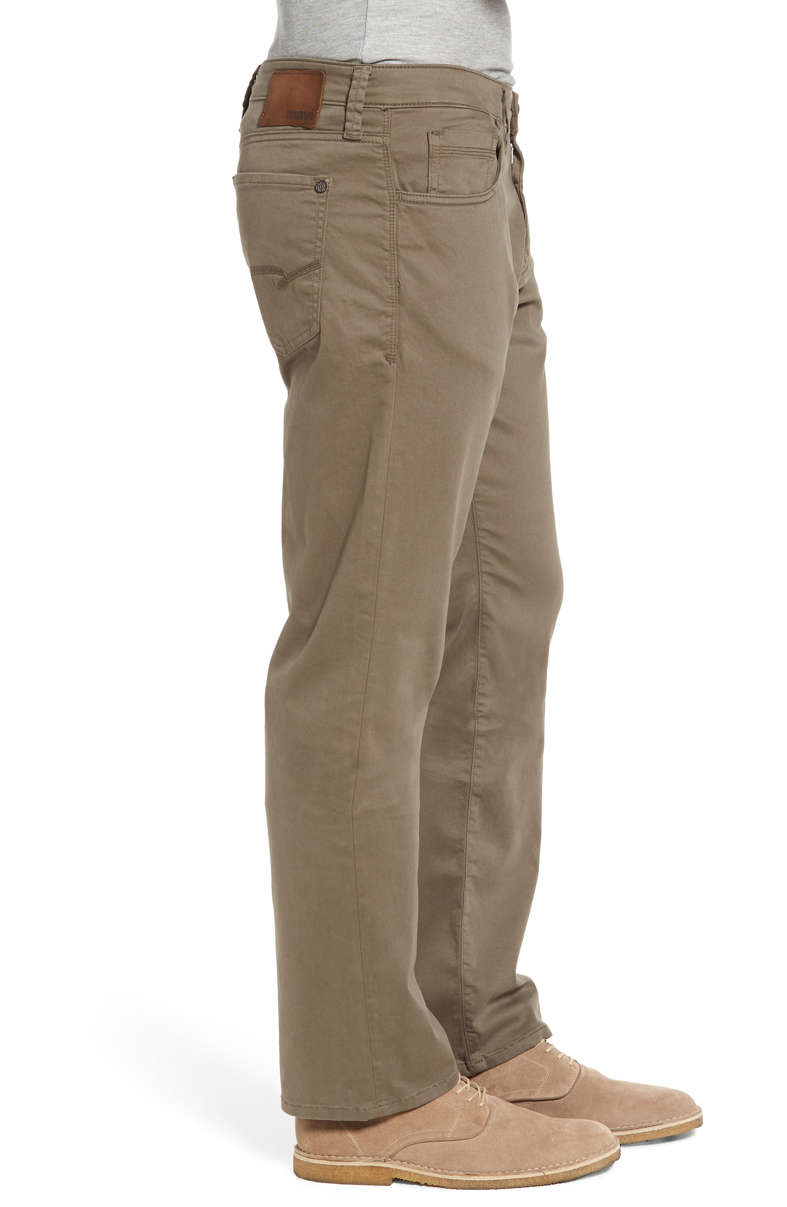 Matt Relaxed Fit Twill Pants,                             Alternate thumbnail 3, color,                             Dusty Olive