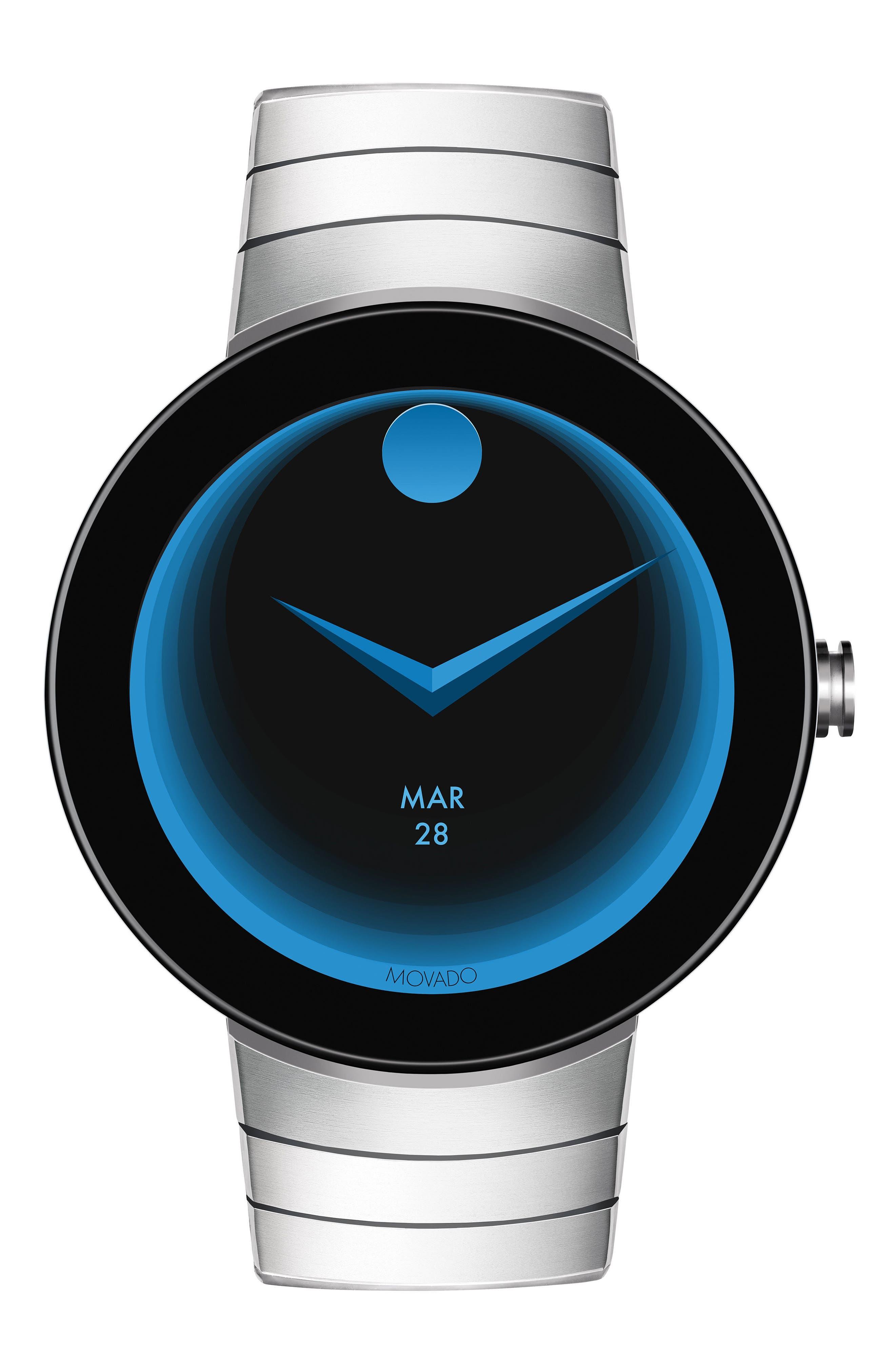 Connect Bracelet Smart Watch, 46mm,                         Main,                         color, Silver