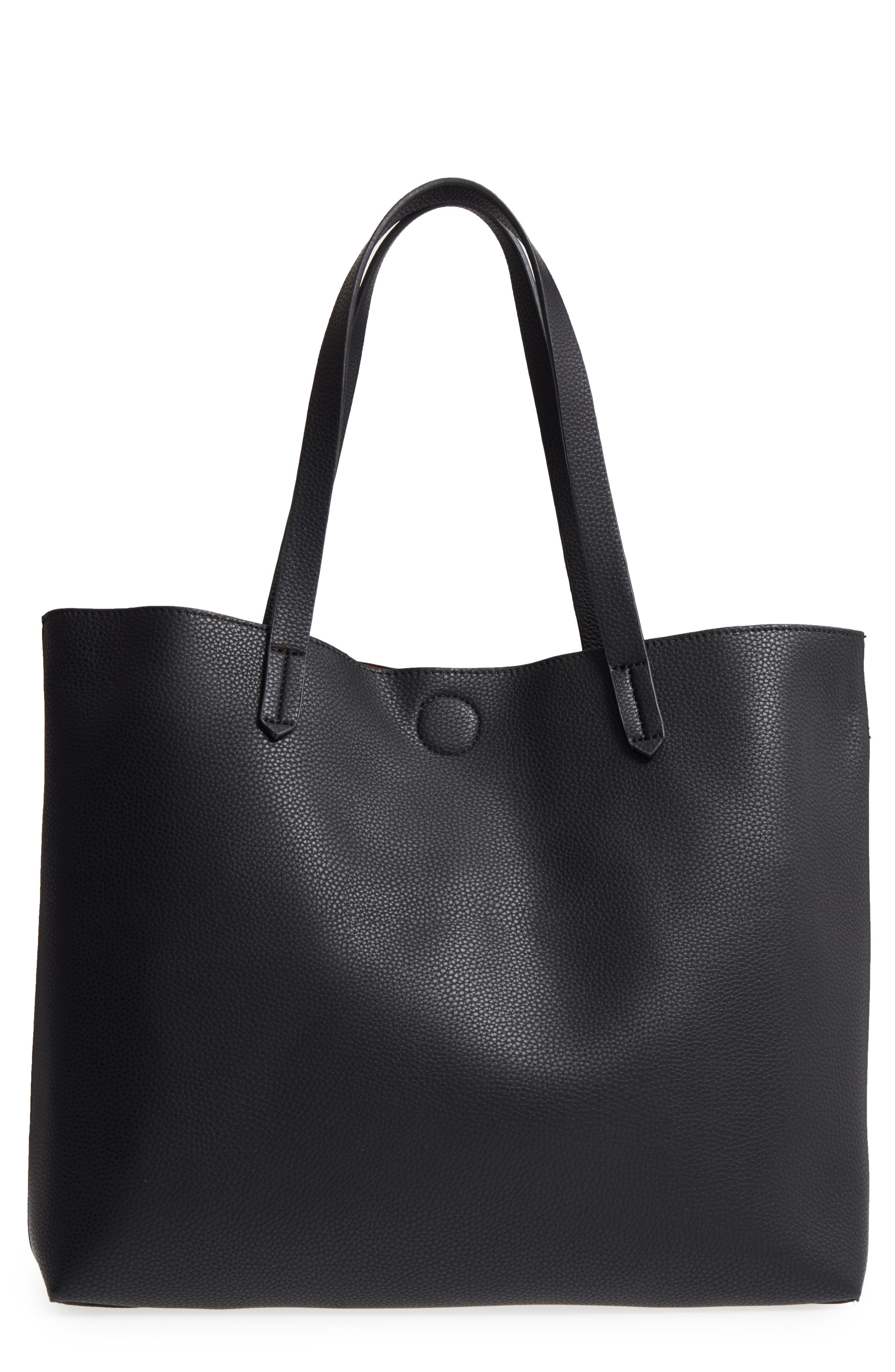 Alternate Image 3  - BP. Contrast Lining Faux Leather Tote