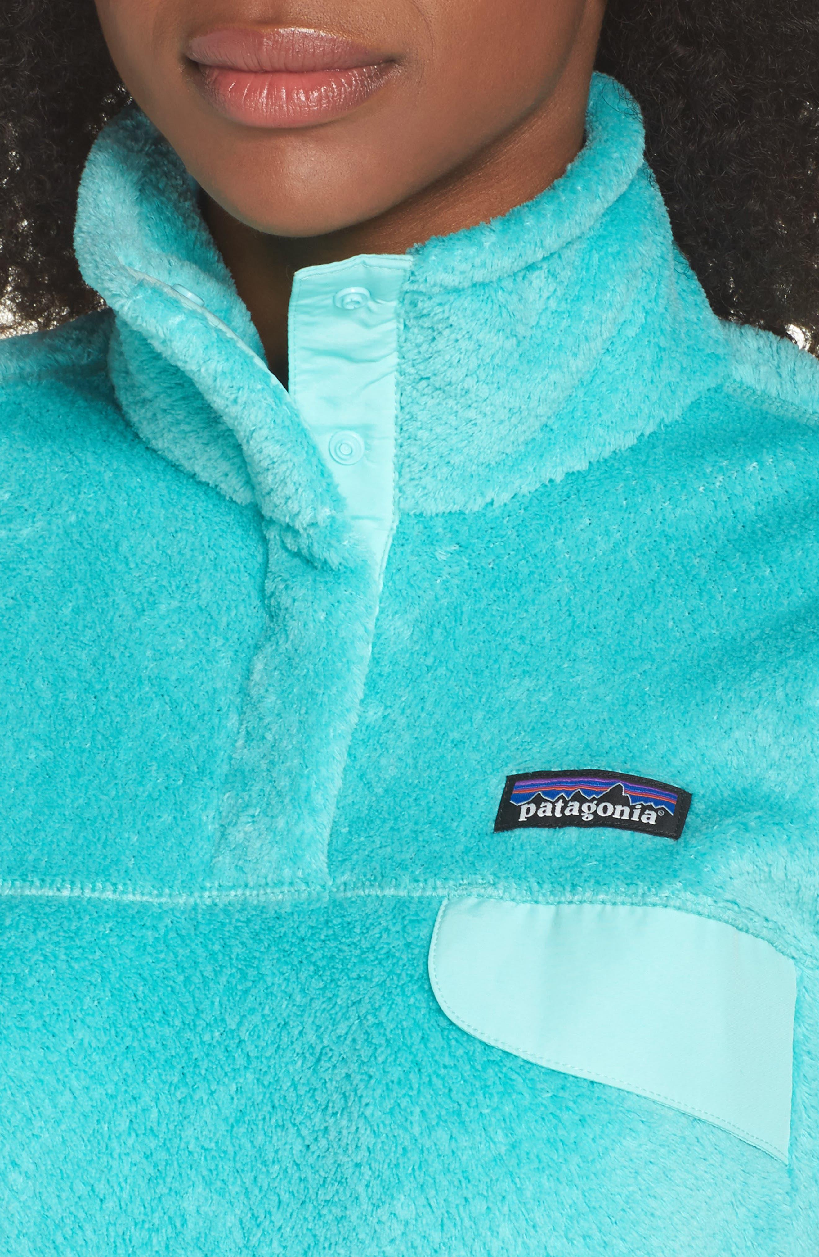 Re-Tool Snap-T<sup>®</sup> Fleece Pullover,                             Alternate thumbnail 4, color,                             Bend Blue/ Strait Blue X Dye